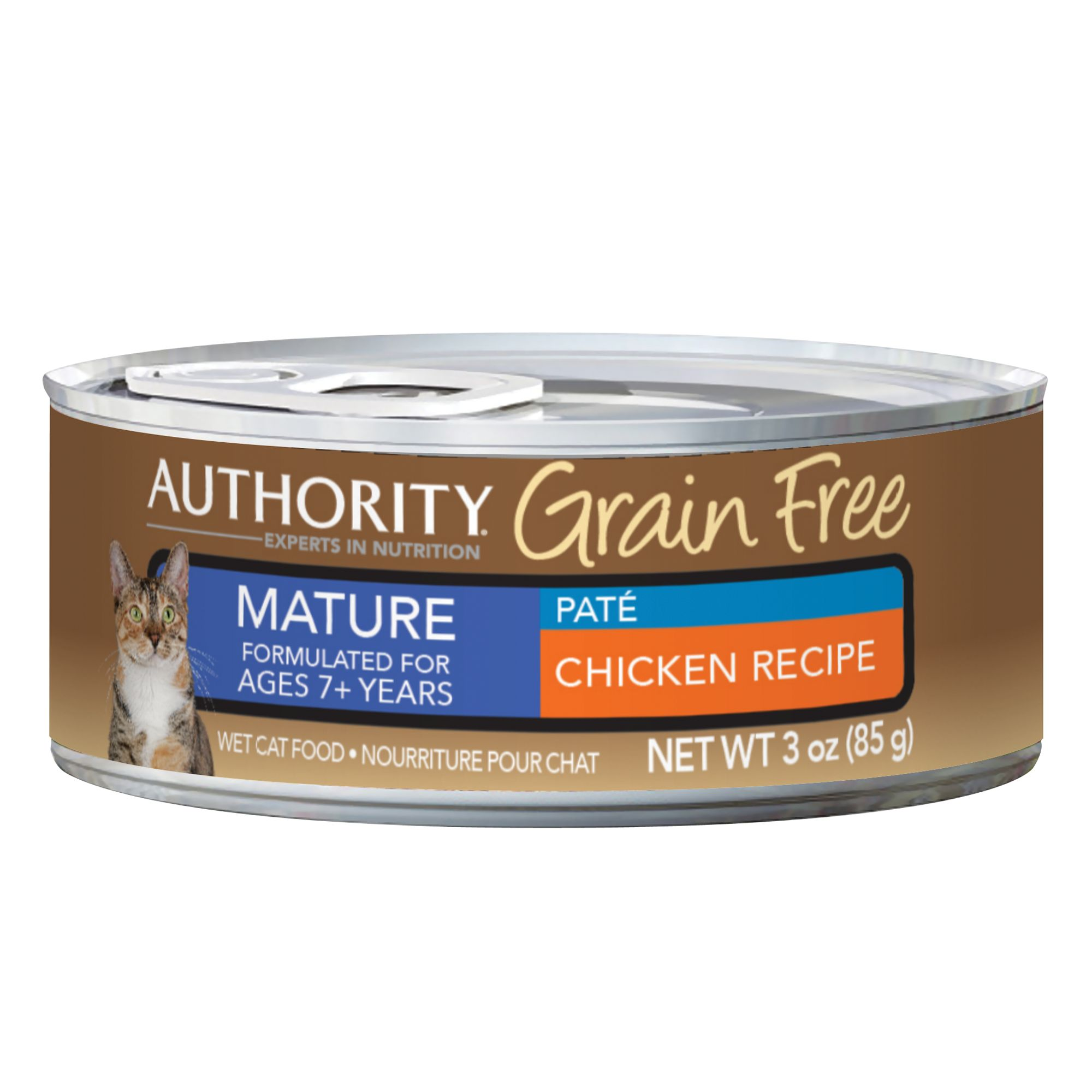 Authority® Grain Free Mature Cat Food - Chicken size: 3 Oz