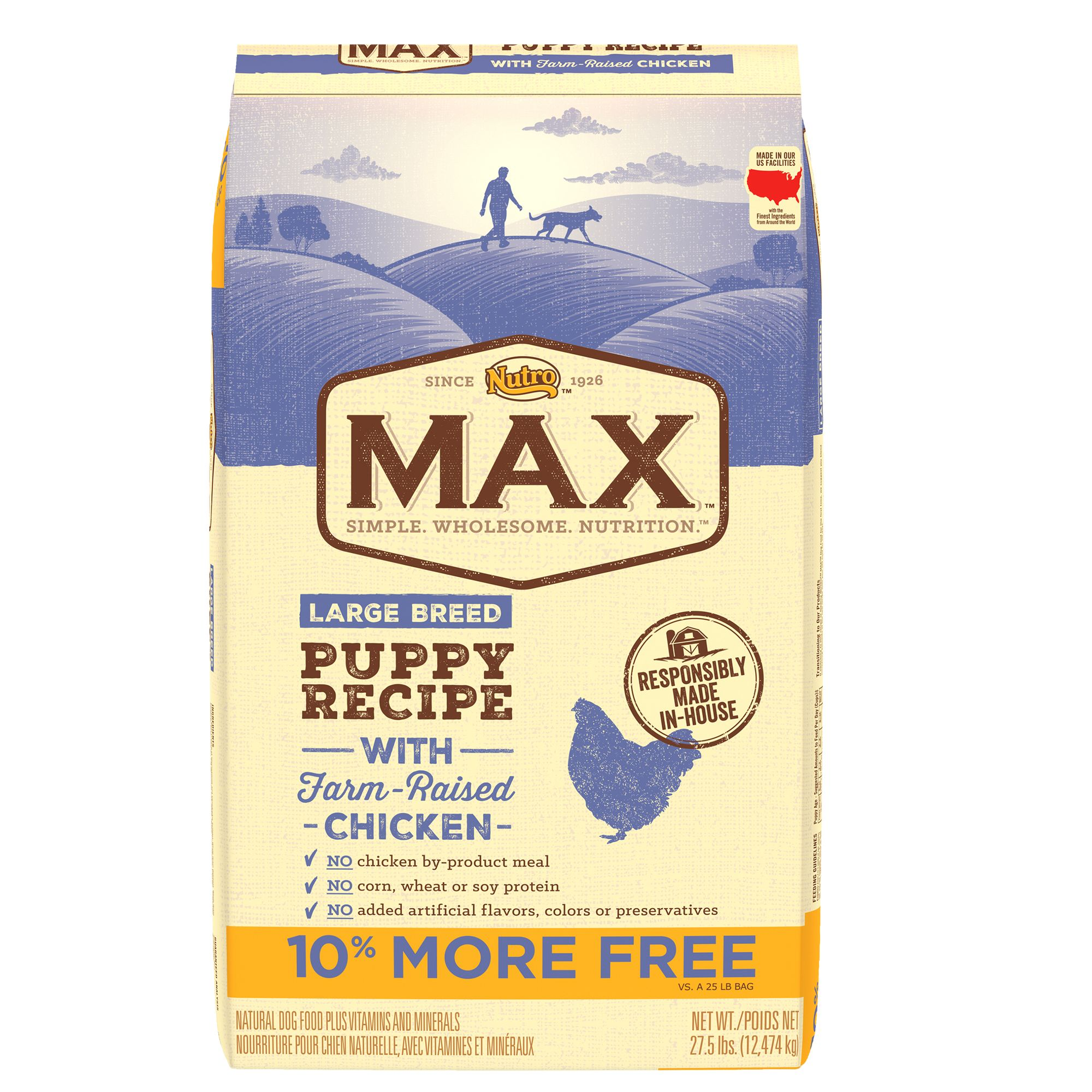 Nutro® Max® Large Breed Puppy Food - Natural, Chicken size: 27.5 Lb Bonus Bag 5254896