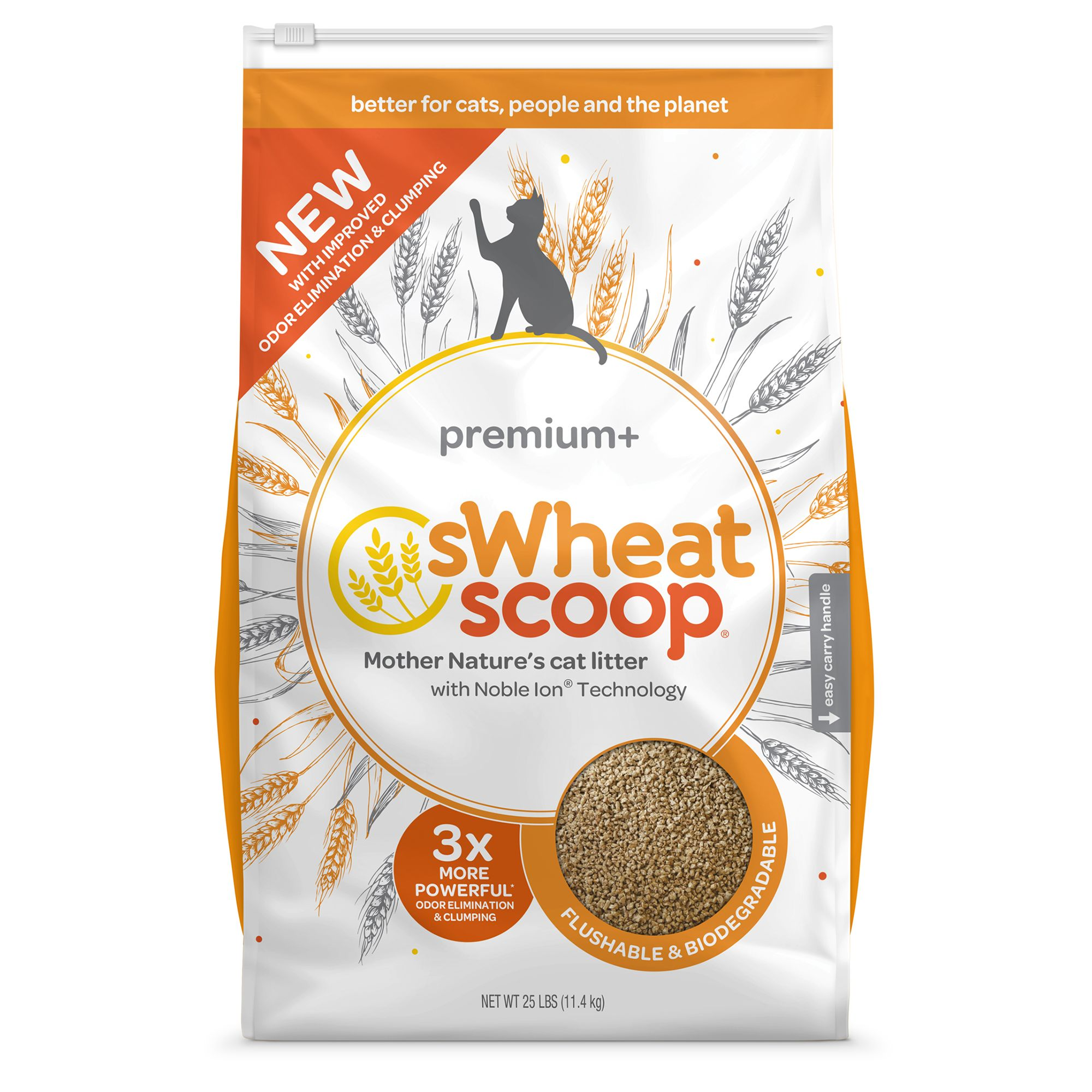 Swheat Scoop Premium Cat Litter Natural Clumping Size 25 Lb
