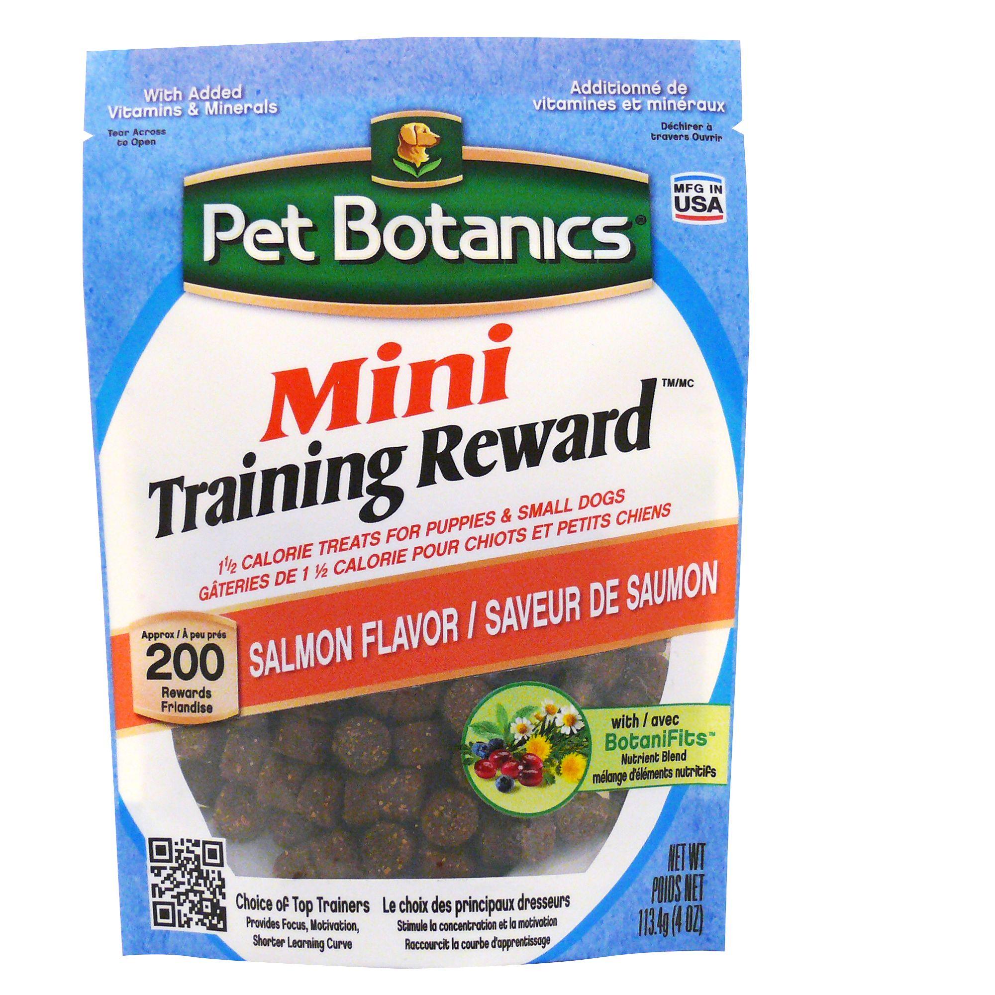 Pet Botanics Mini Training Reward Dog Treat Salmon Size 4 Oz