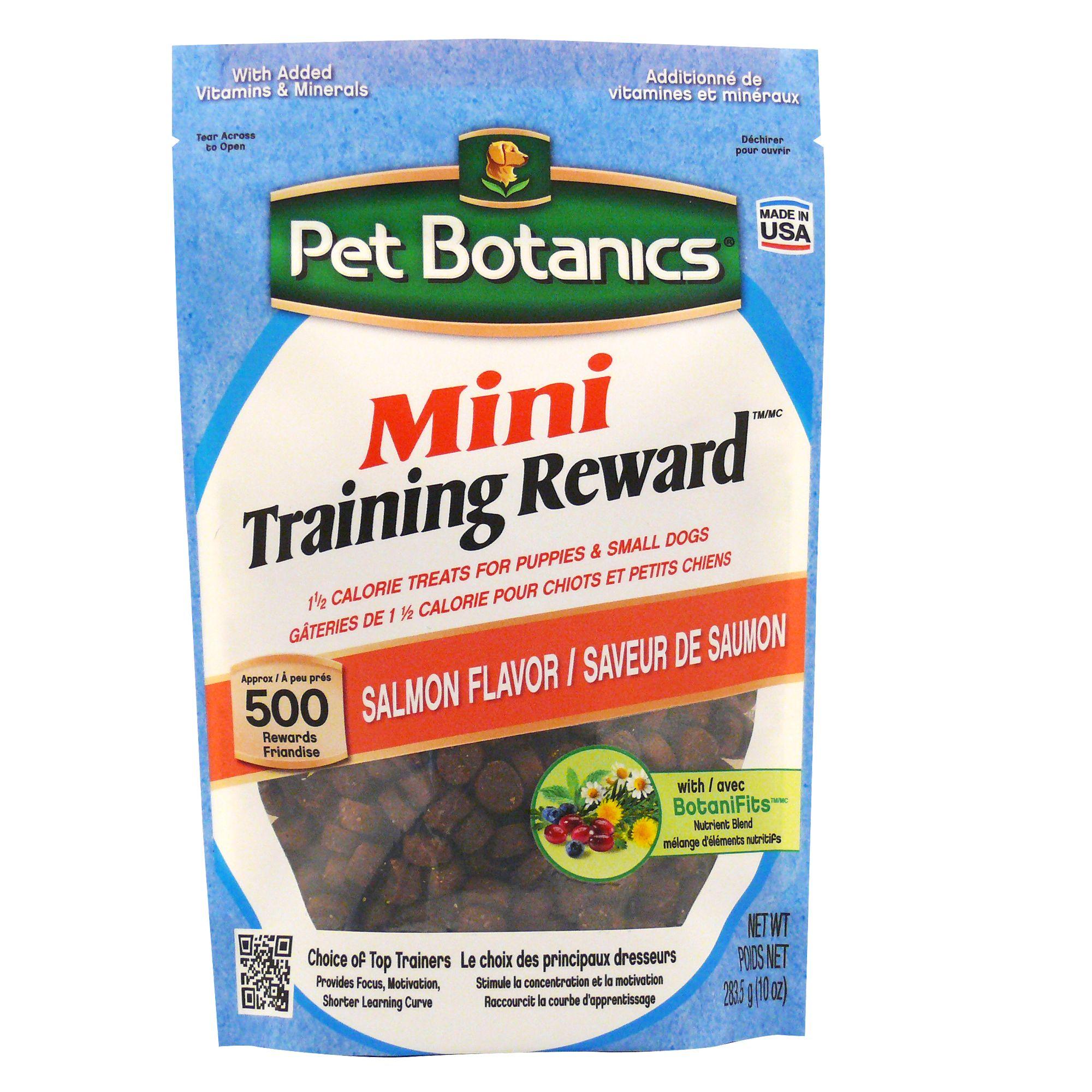 Pet Botanics Mini Training Reward Dog Treat Salmon Size 10 Oz