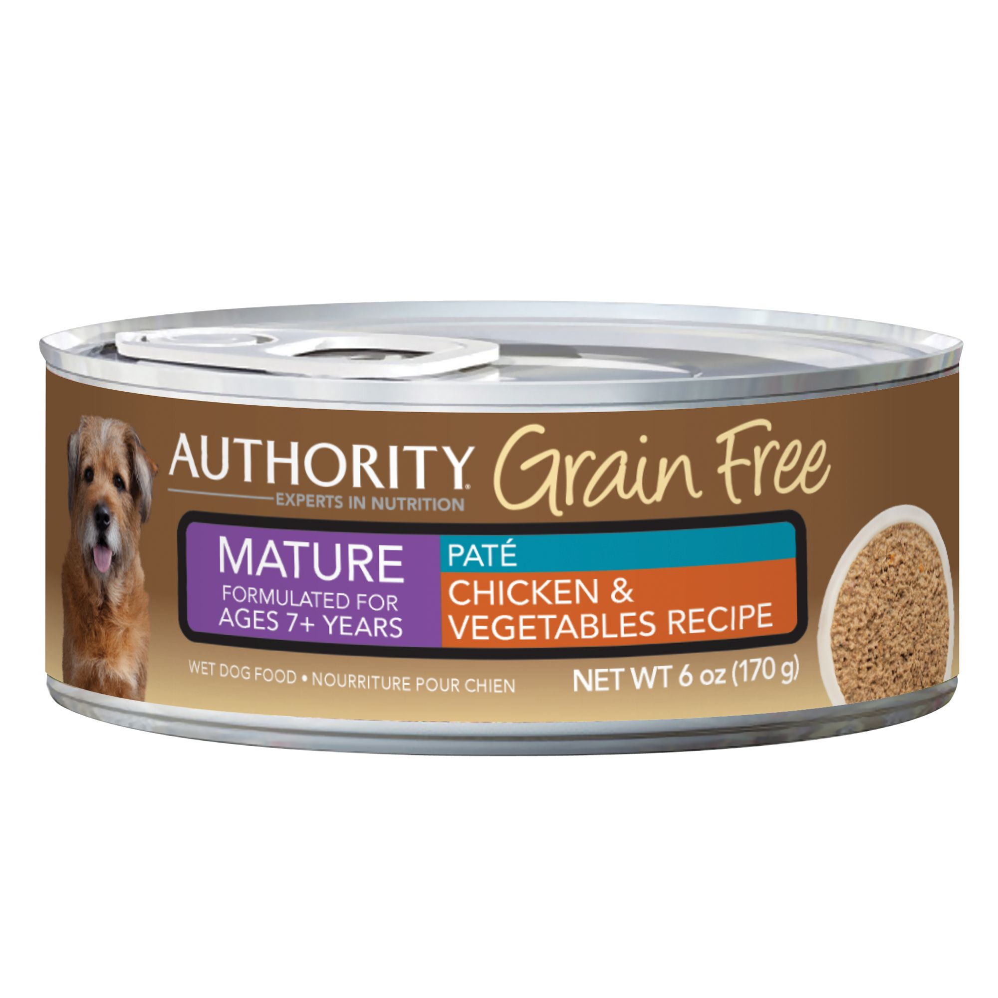 Authority® Grain Free Mature Dog Food - Chicken and Vegetables size: 6 Oz
