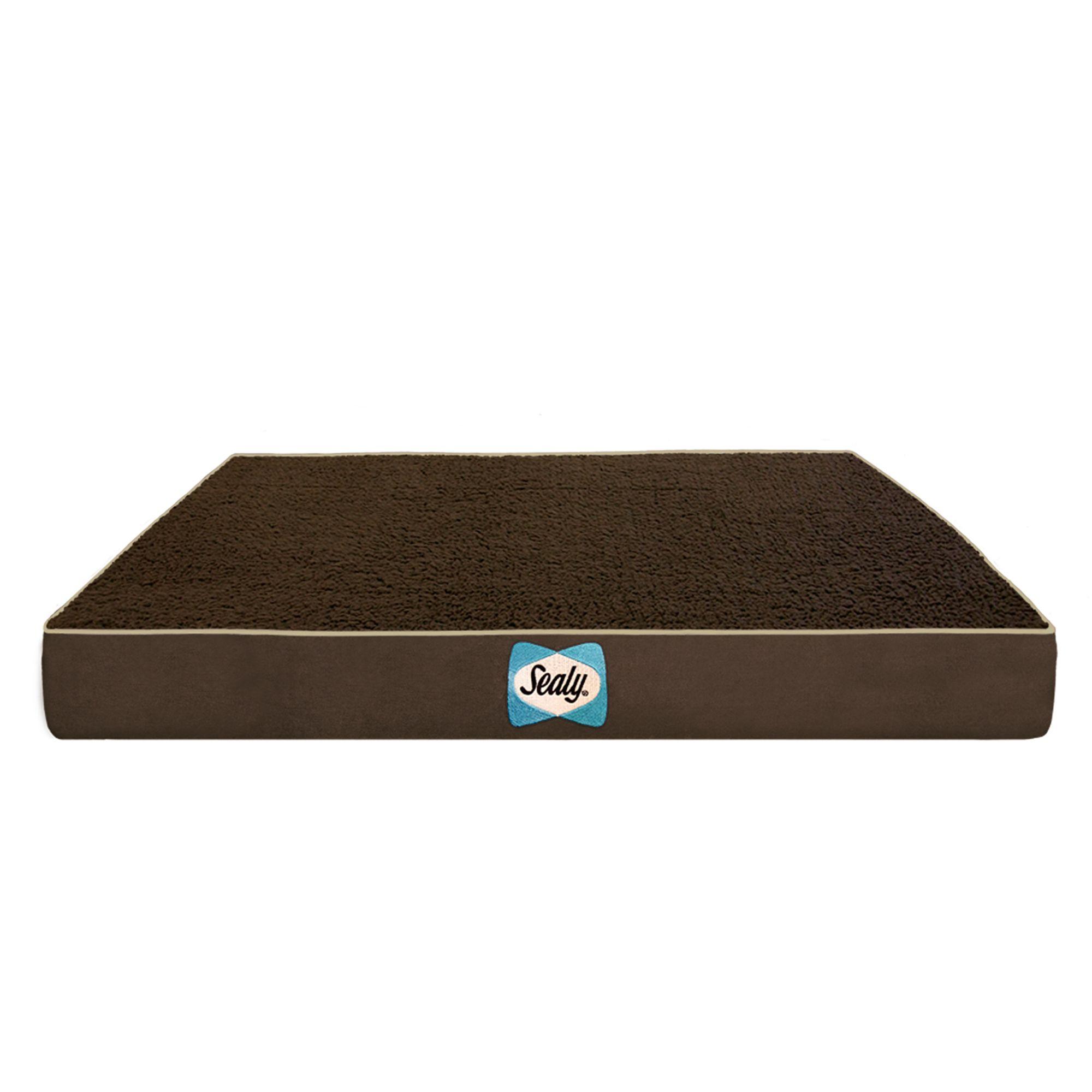 Sealy Supreme Sherpa Dog Bed Size 28l X 36w X 4h Brown