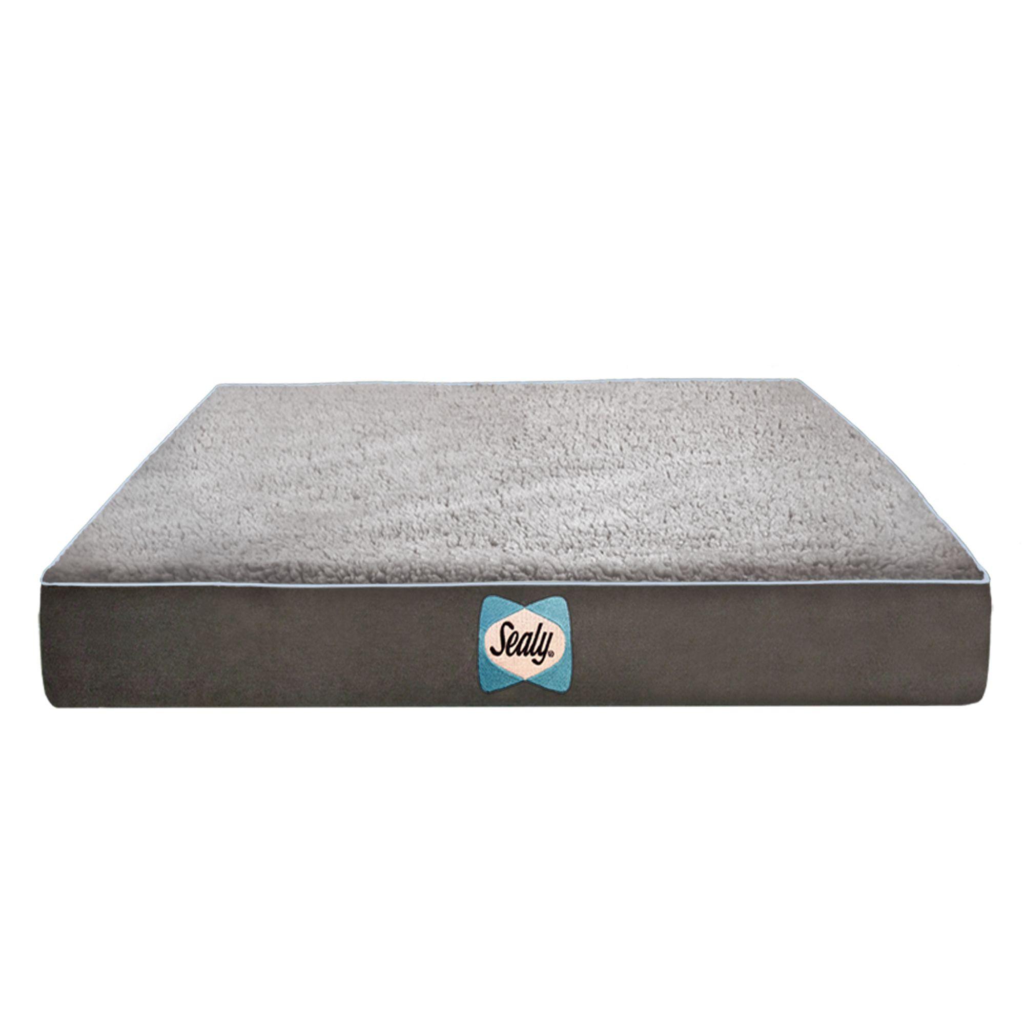 Sealy Supreme Sherpa Dog Bed Size 28l X 36w X 4h Gray