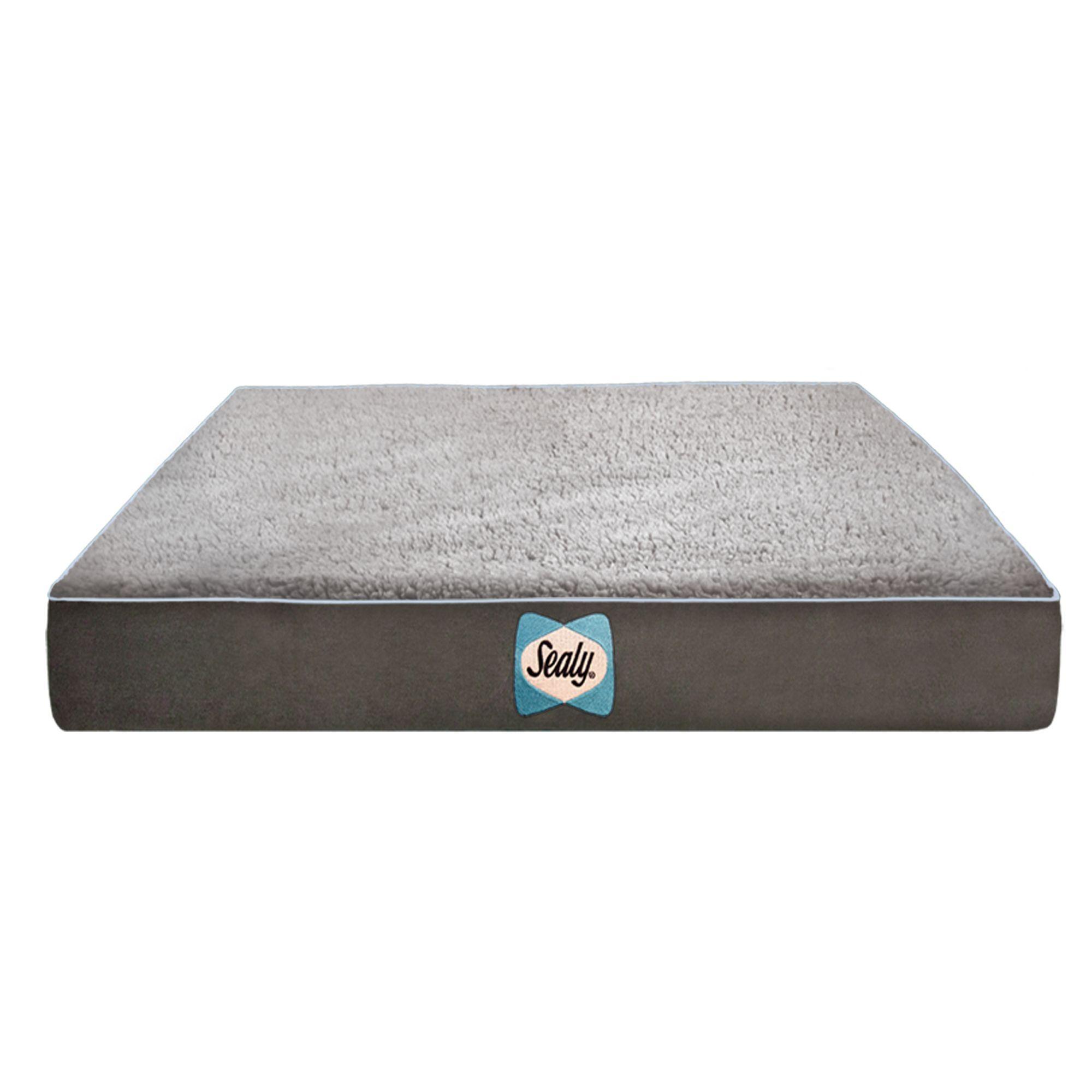 Sealy Supreme Sherpa Dog Bed Size 32l X 42w X 5h Gray