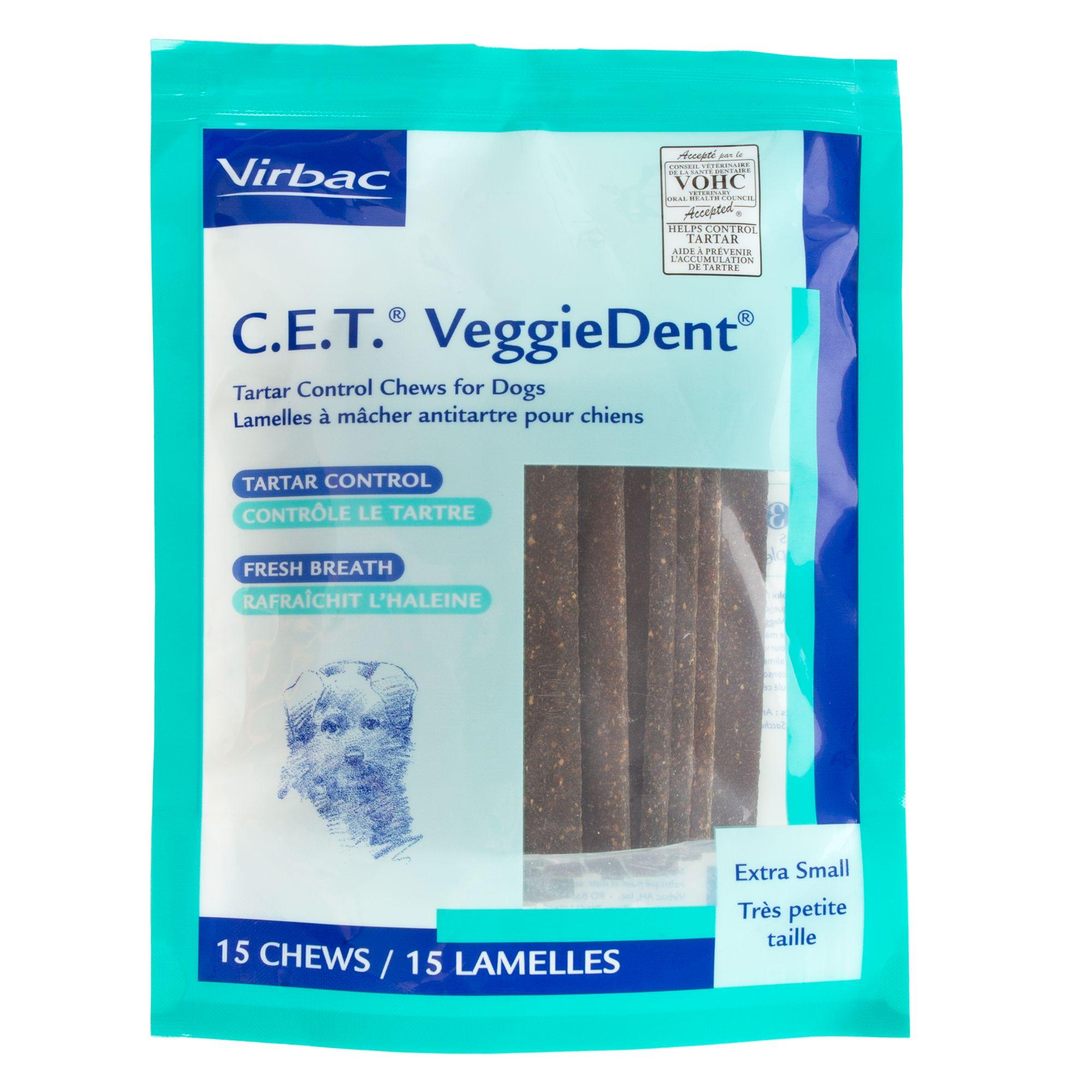Virbac C.E.T Vegdent Tarter Control Dog Chews size: X Small