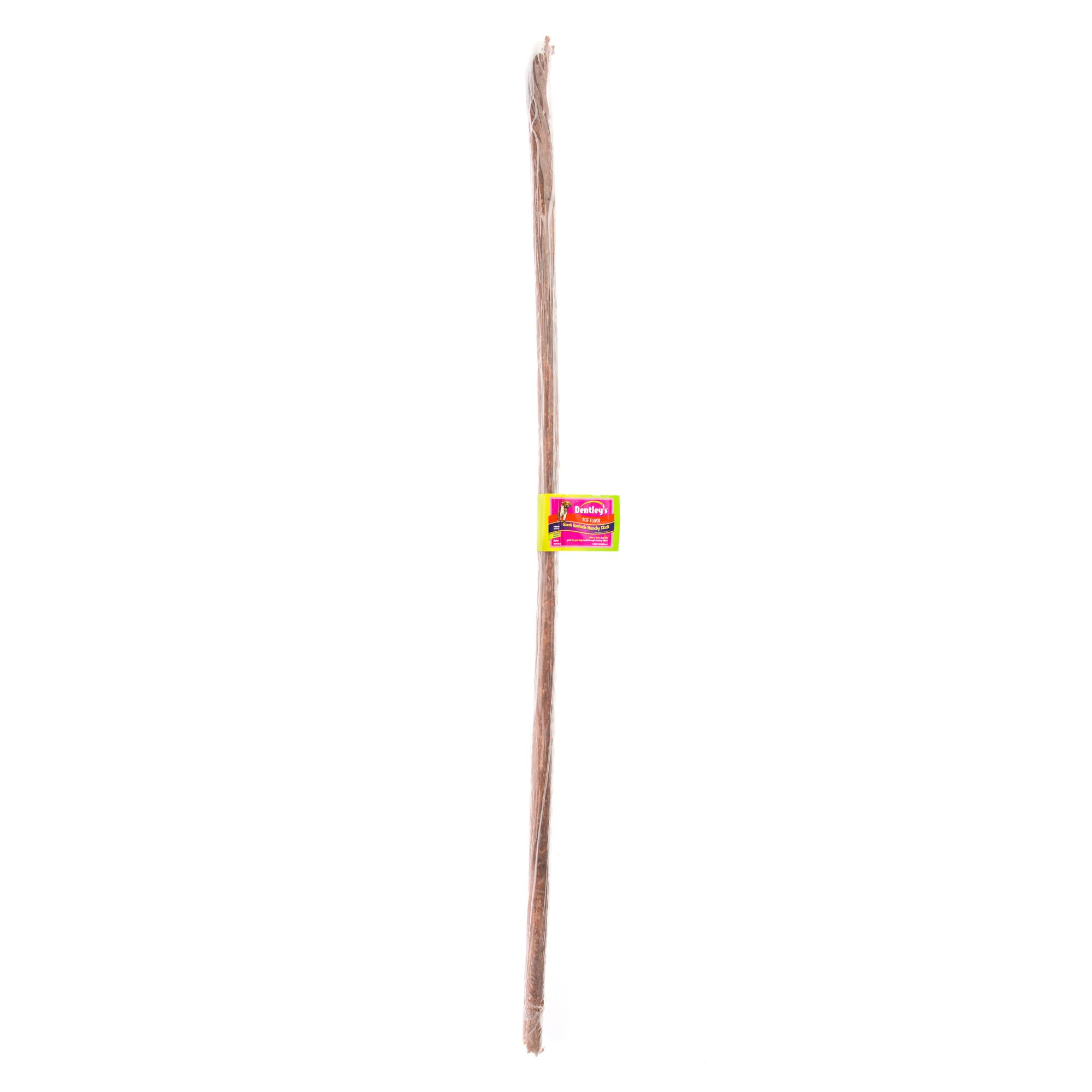 Dentleys Giant Rawhide Munchy Stick Dog Treat Beef Size 36 In
