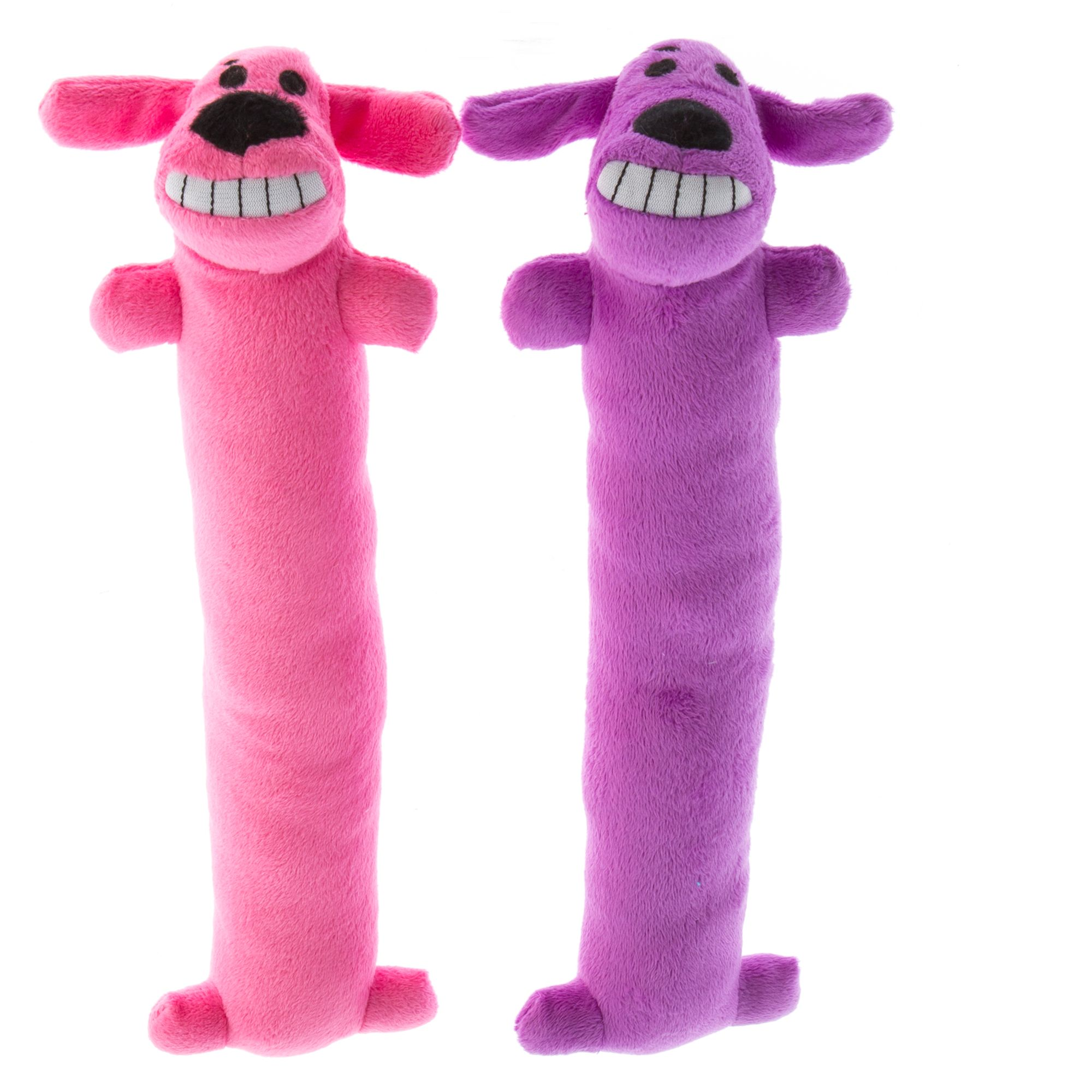 Pet Holiday Bobo Winter 2 Pack Long Dog Toy