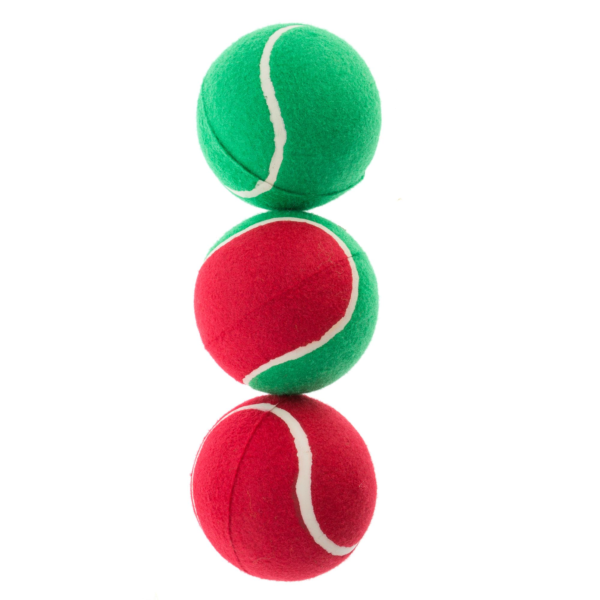 Pet Holiday Traditional Giant Tennis Balls 3 Pack Dog Toy