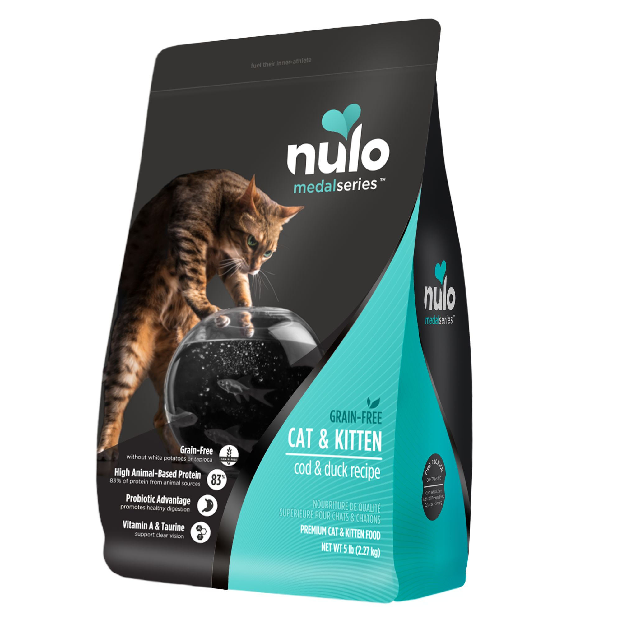Nulo Medalseries Cat And Kitten Food Grain Free Cod And Duck Size 5 Lb