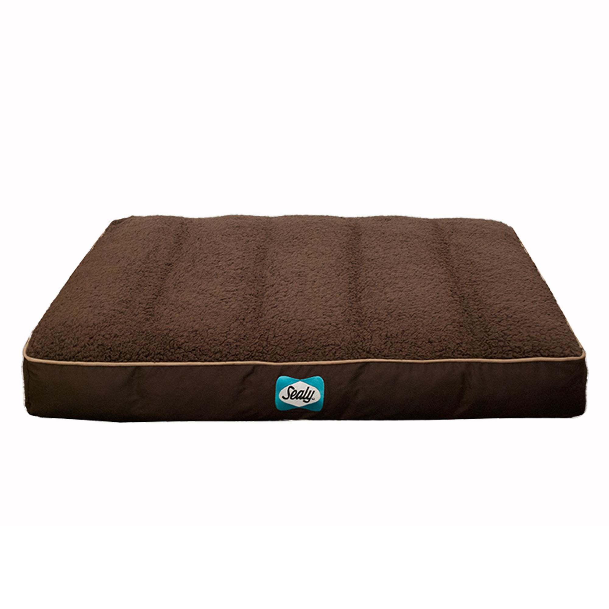 Sealy Cozy Comfy Sherpa Dog Bed Size 36l X 28w X 6h Brown