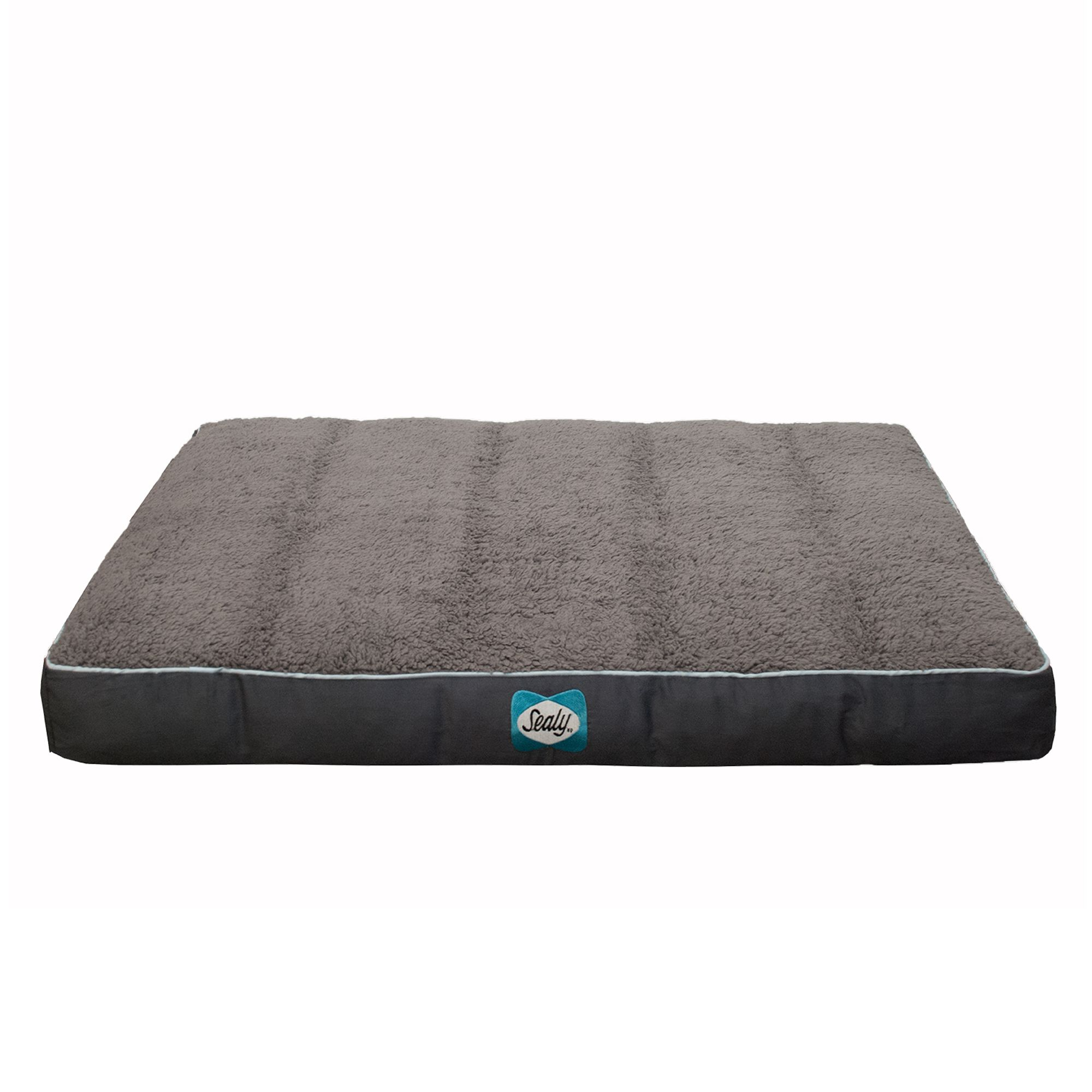 Sealy Cozy Comfy Sherpa Dog Bed Size 36l X 28w X 6h Gray