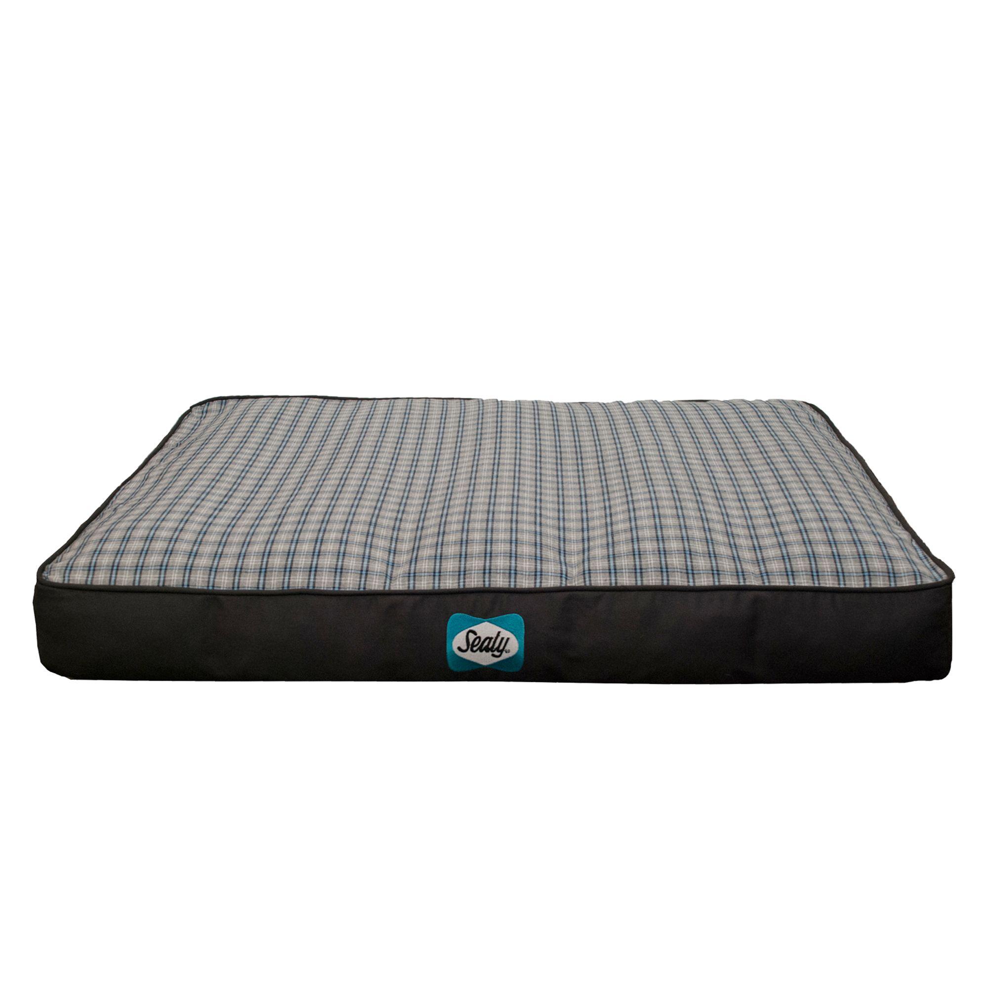 Sealy Cozy Comfy Designer Dog Bed Size 36l X 28w X 6h Blue