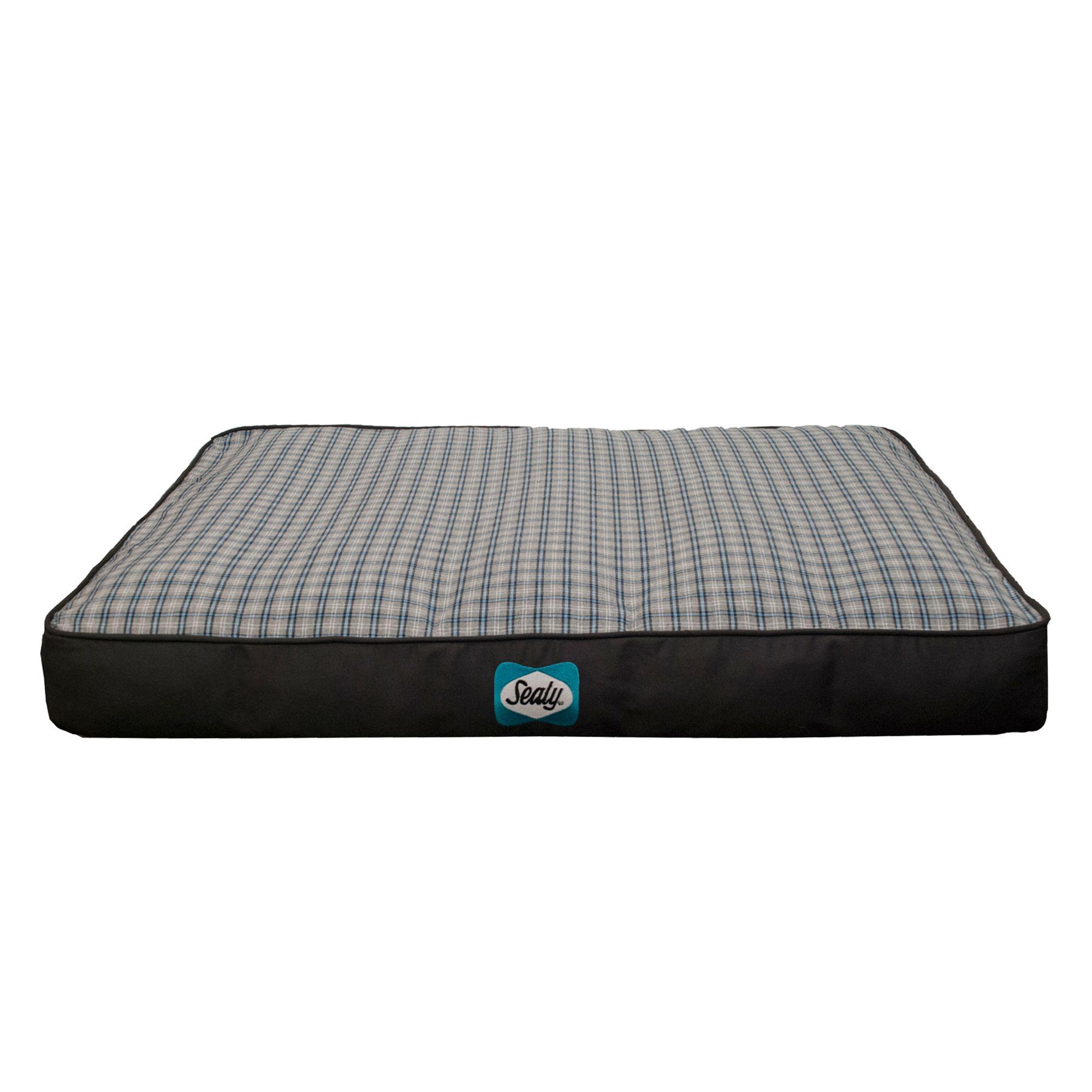 Sealy Cozy Comfy Designer Dog Bed Size 42l X 32w X 7h Blue