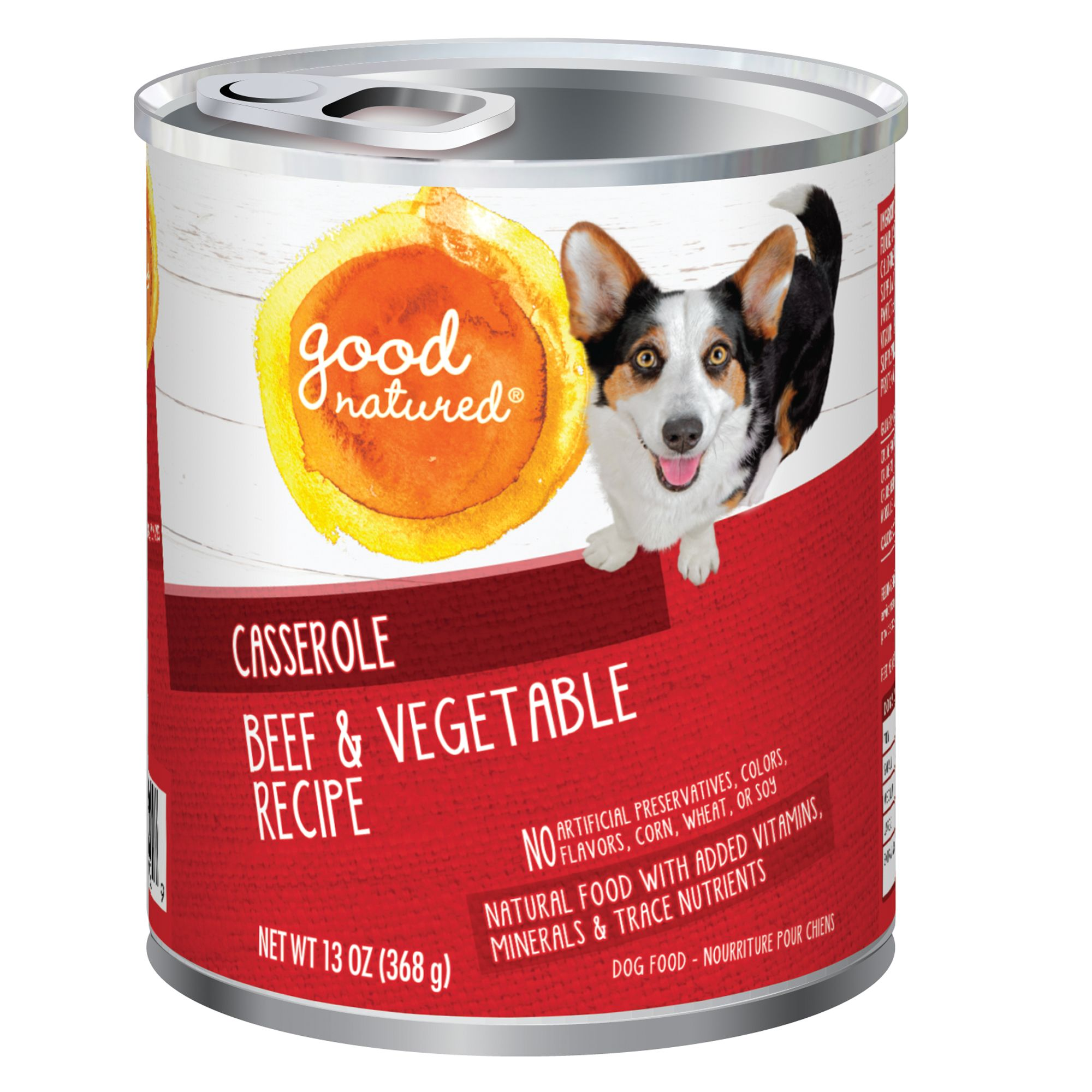 Good Natured, Dog Food - Natural, Beef and Vegetable, Casserole