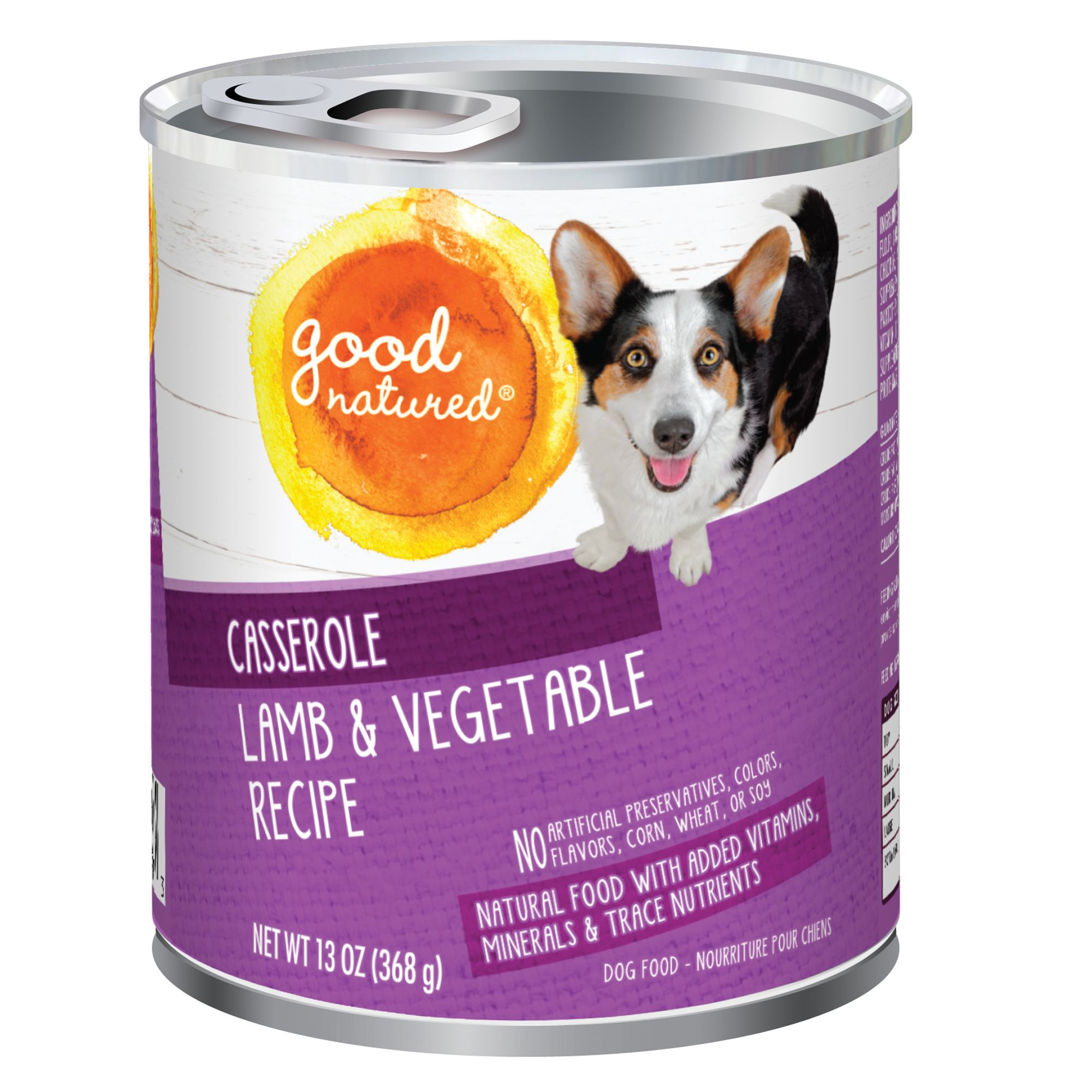 Good Natured, Dog Food - Natural, Lamb and Vegetable, Casserole size: 13 Oz