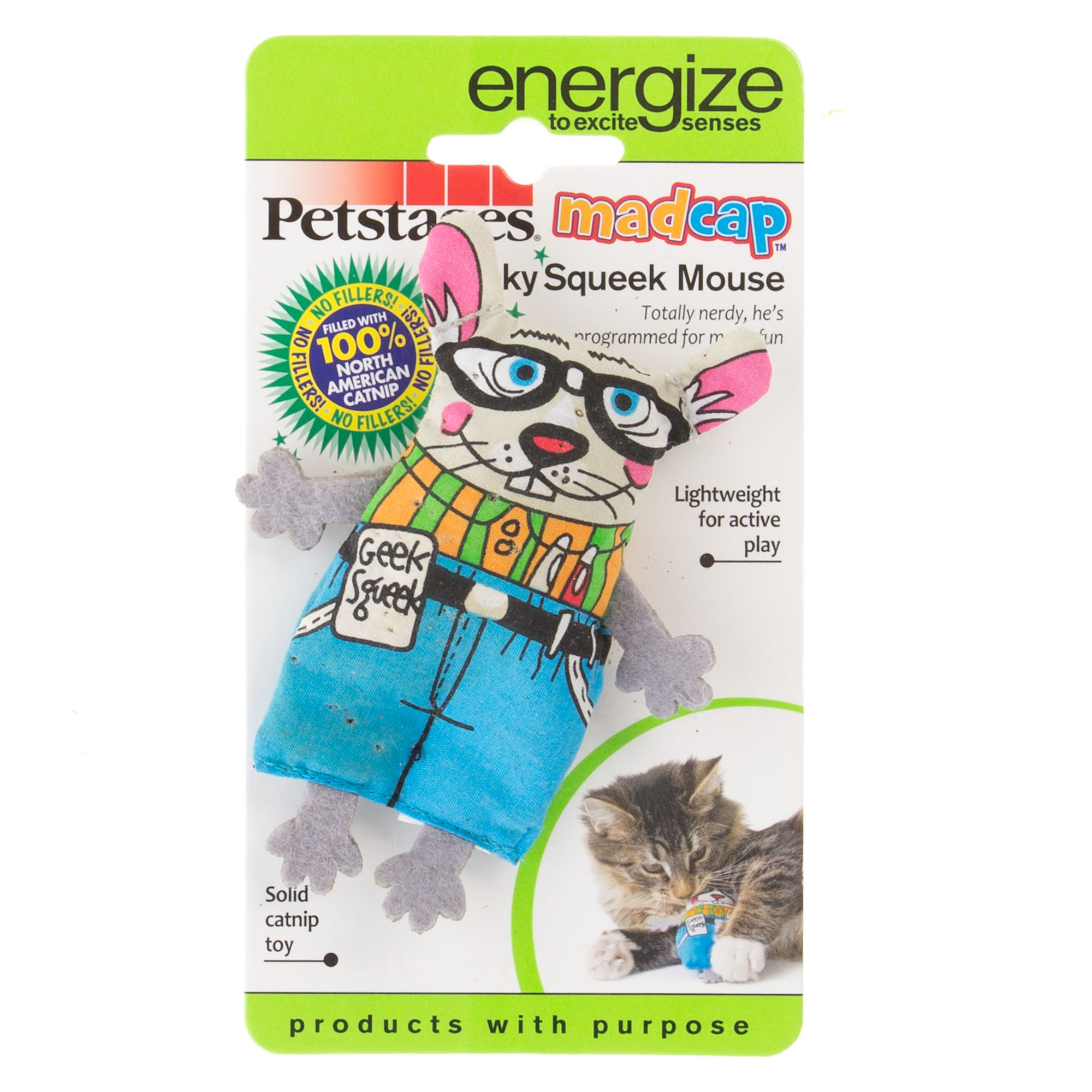 Petstages Geeky Squeek Mouse Cat Toy 5256985