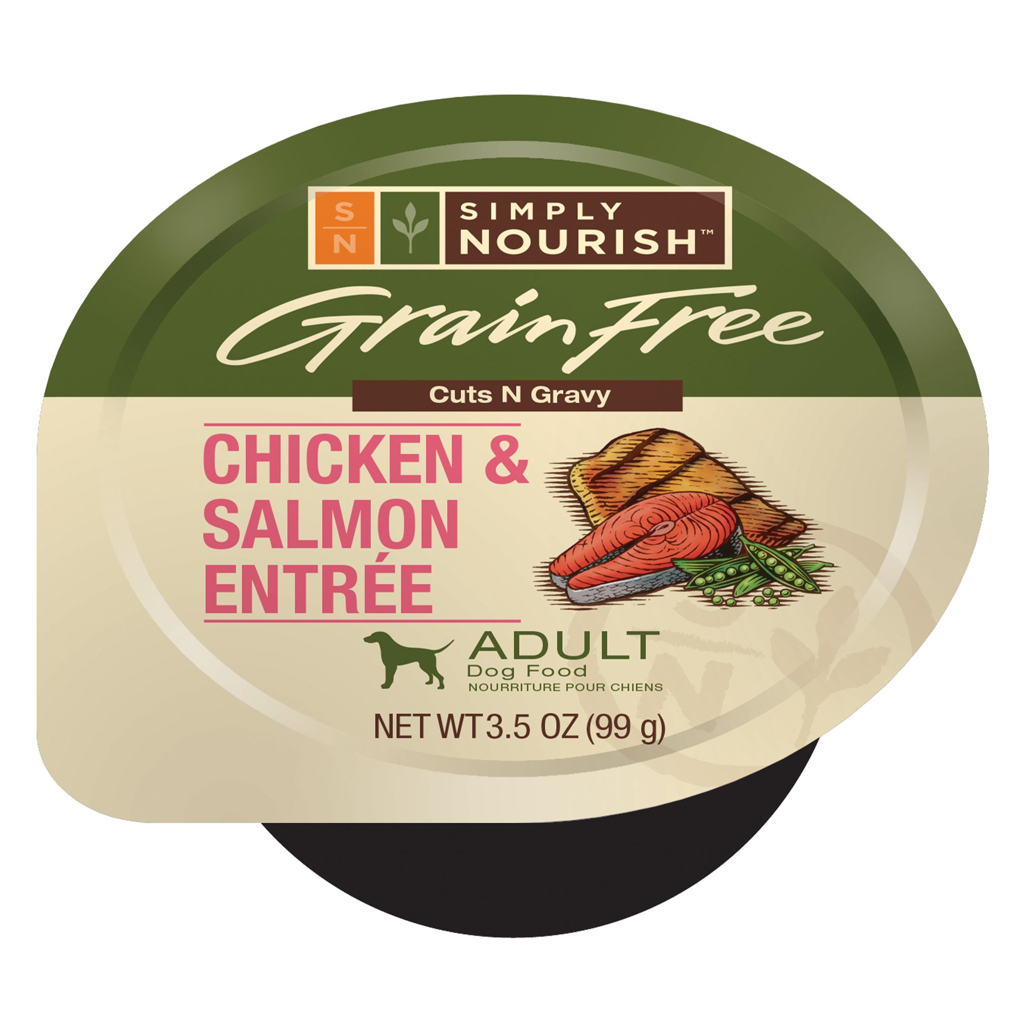 Simply Nourish Adult Dog Food Grain Free Chicken And Salmon Size 3.5 Oz