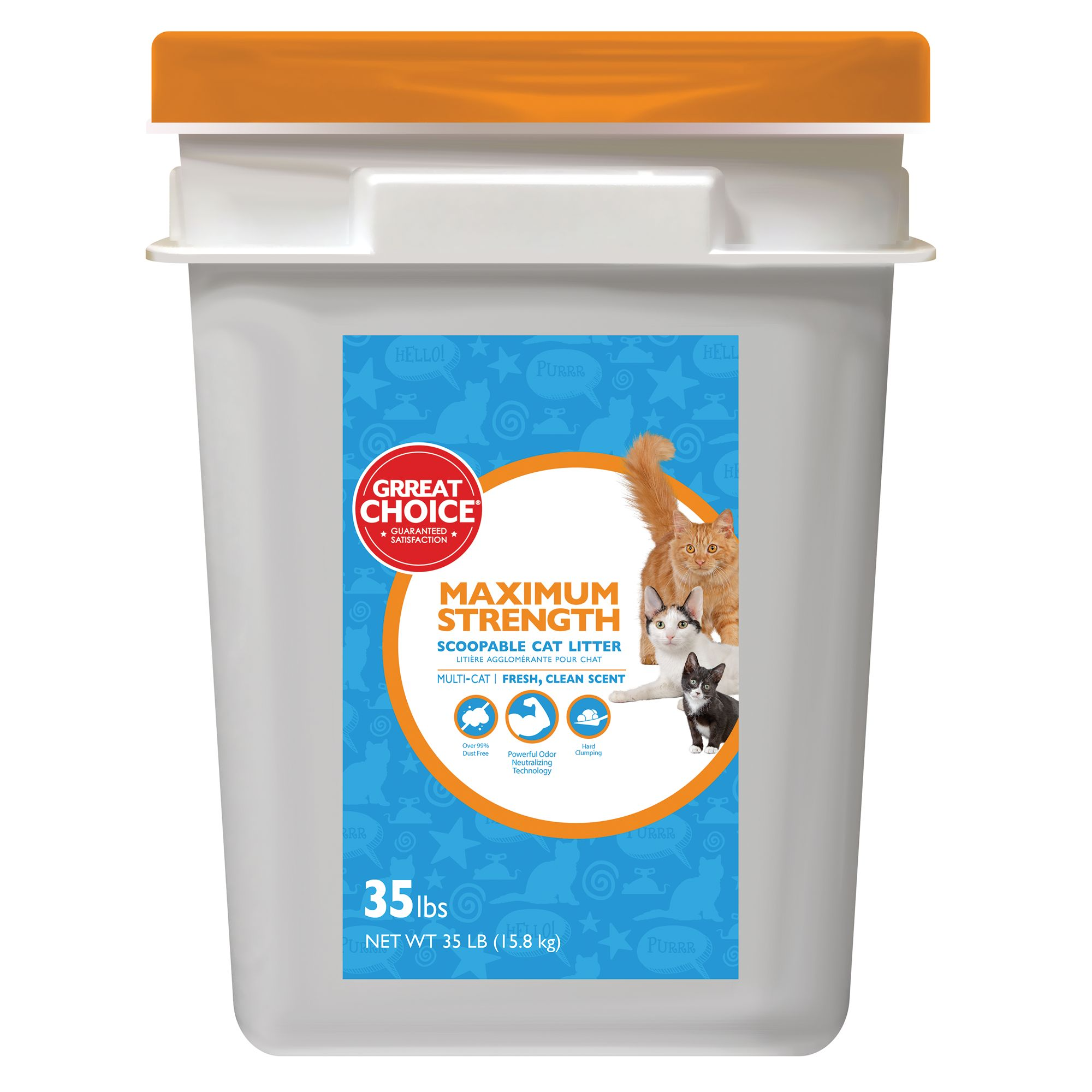 Grreat Choice Maximum Strength Cat Litter - Scoopable, Multi-Cat, Fresh Scent size: 35 Lb 5257268