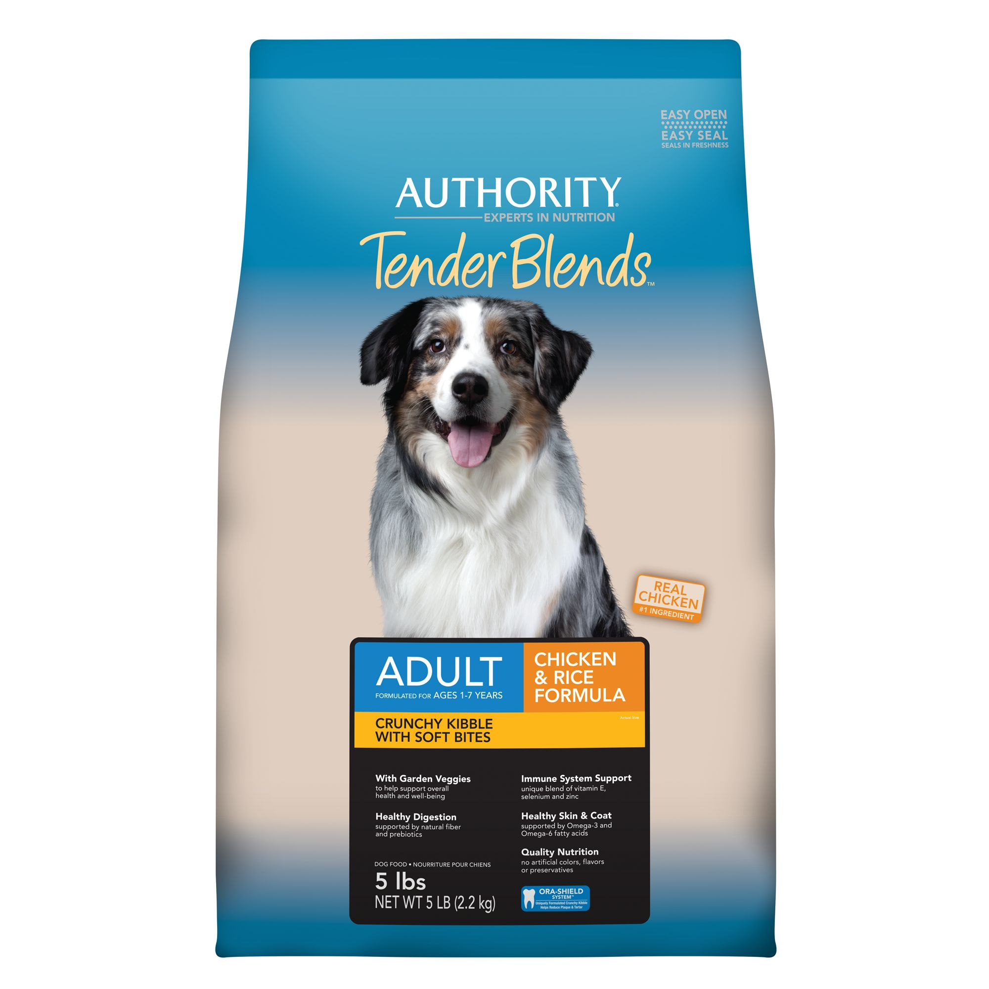 Authority® Tender Blends Adult Dog Food - Chicken and Rice size: 5 Lb