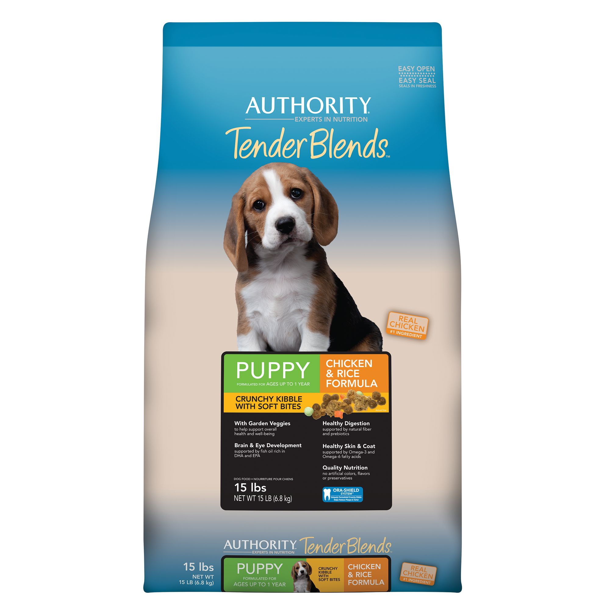 Authority Tender Blends Puppy Food - Chicken and Rice size: 15 Lb 5257518