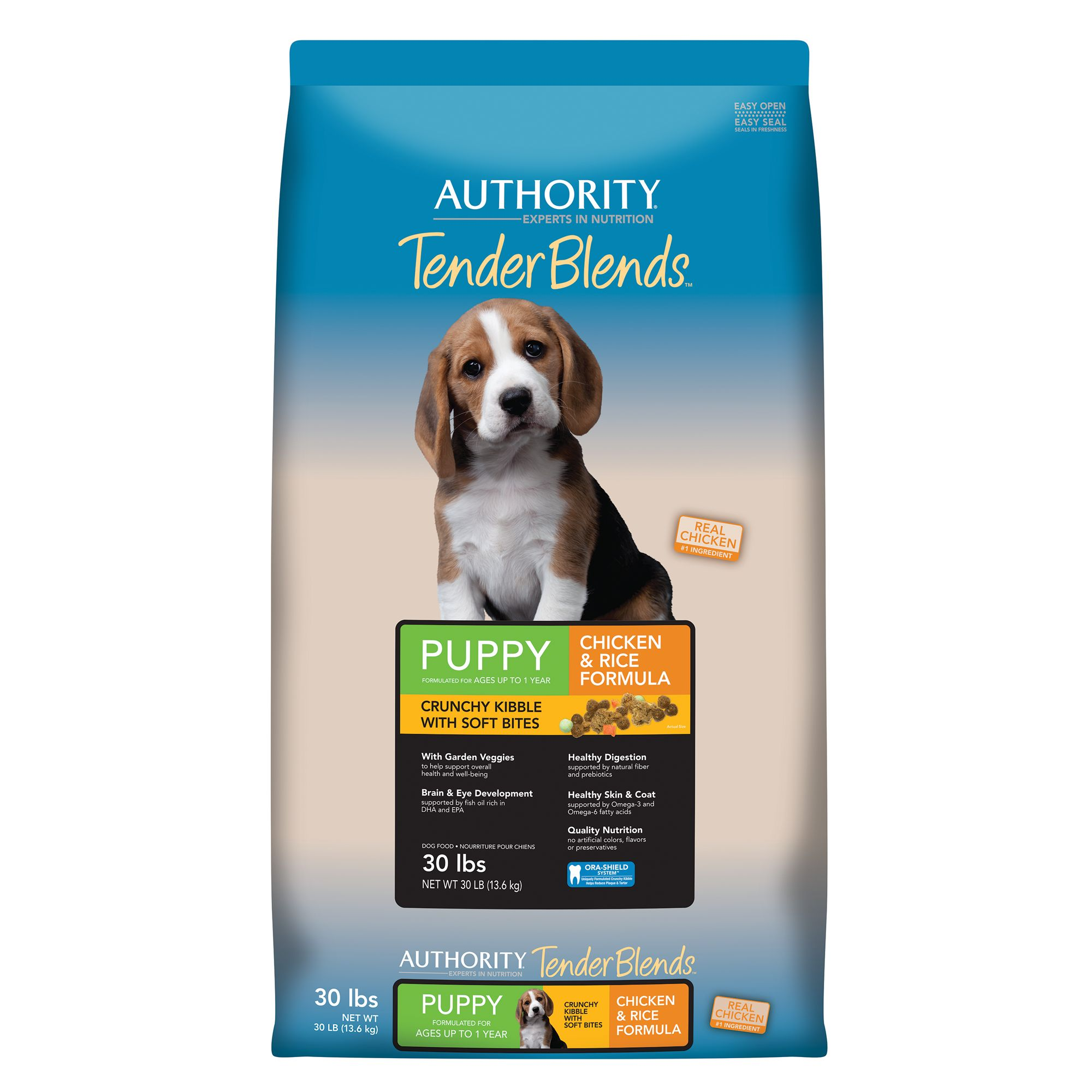 Authority Tender Blends Puppy Food - Chicken and Rice size: 30 Lb 5257519