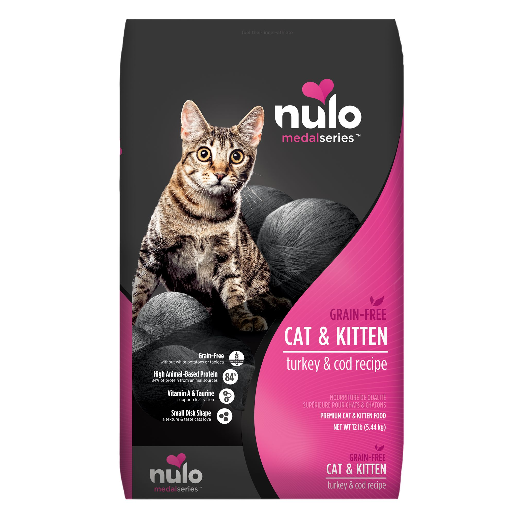 Nulo Medalseries Cat And Kitten Food Grain Free Turkey And Cod Size 12 Lb