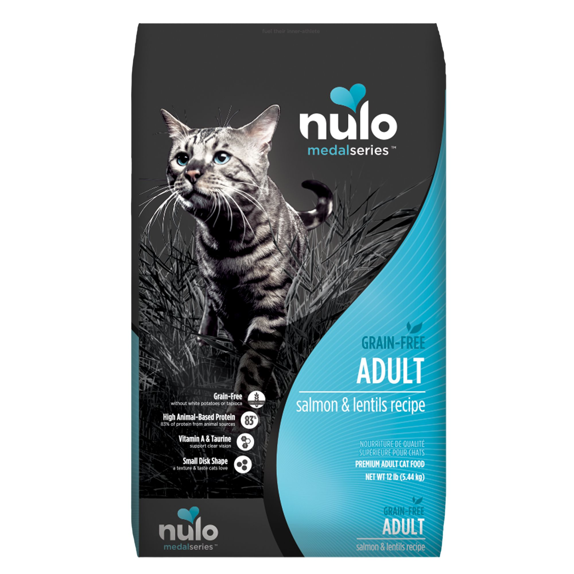 Nulo Medalseries Adult Cat Food Grain Free Salmon And Lentils Size 12 Lb
