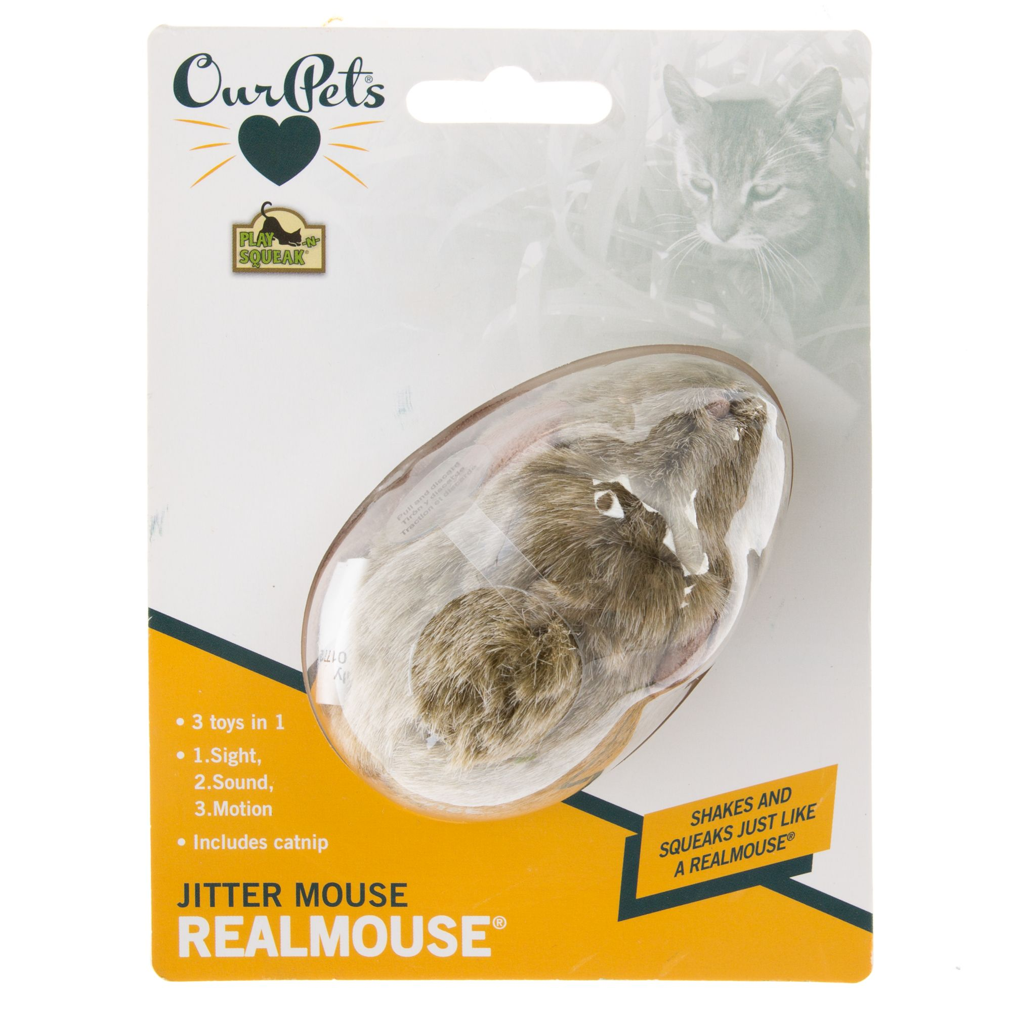 OurPets Jitter Mouse Cat Toy, OurPet's 5257926
