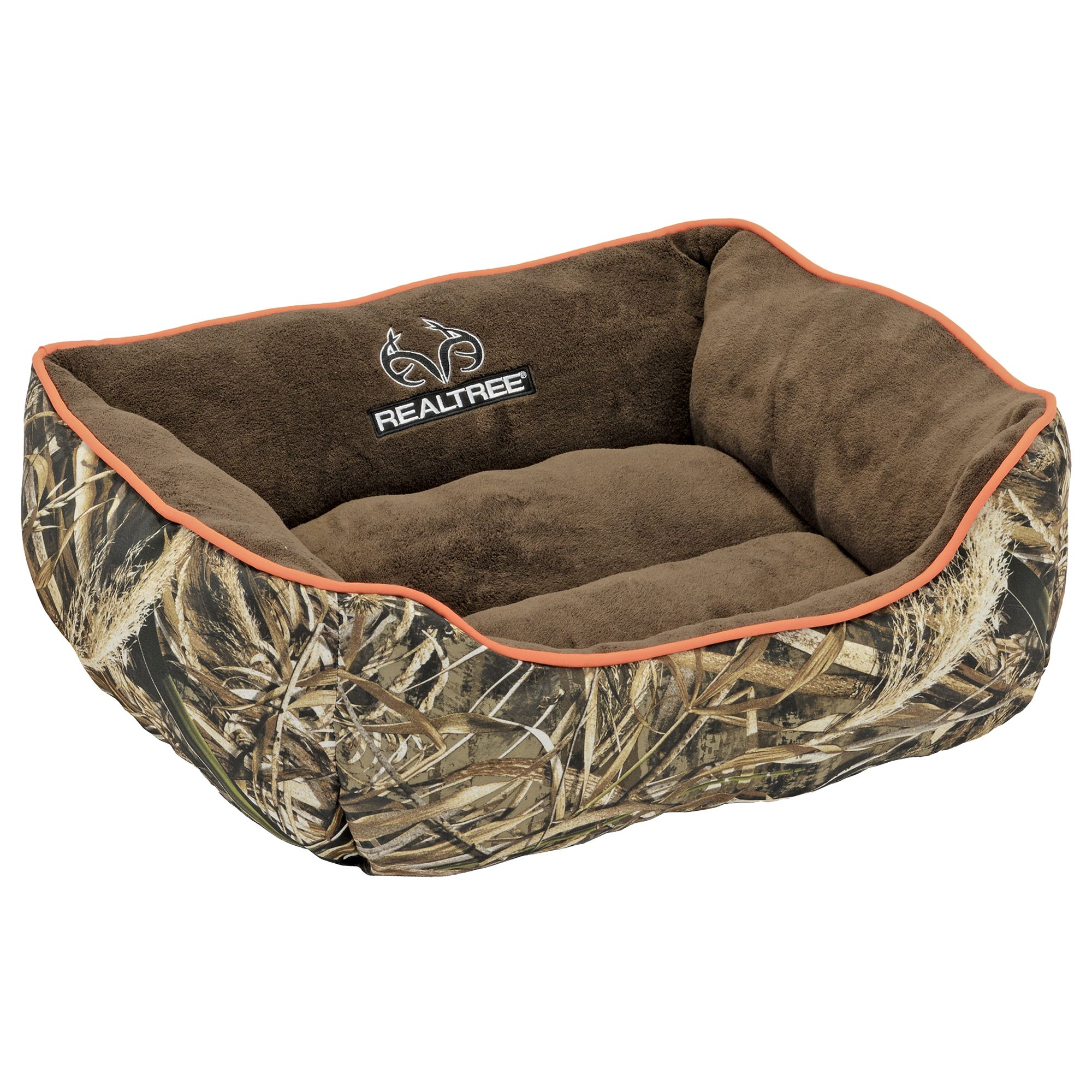 Realtree Camo Cuddler Dog Bed Size 18l X 14w Orange
