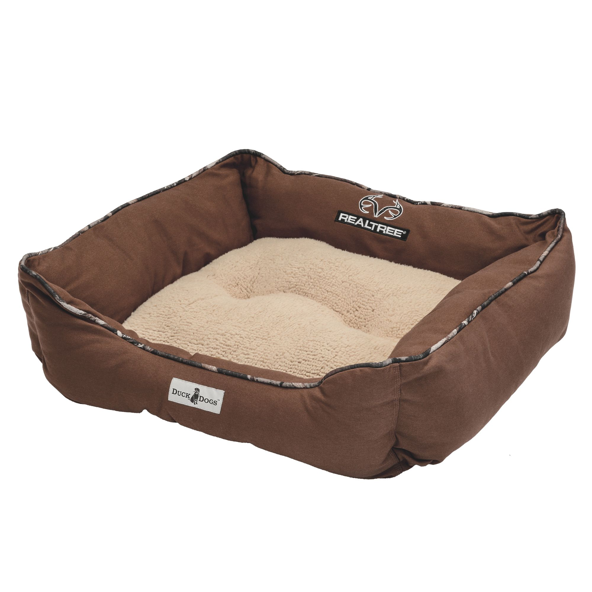 Realtree Box Dog Bed Size 26l X 26w Brown