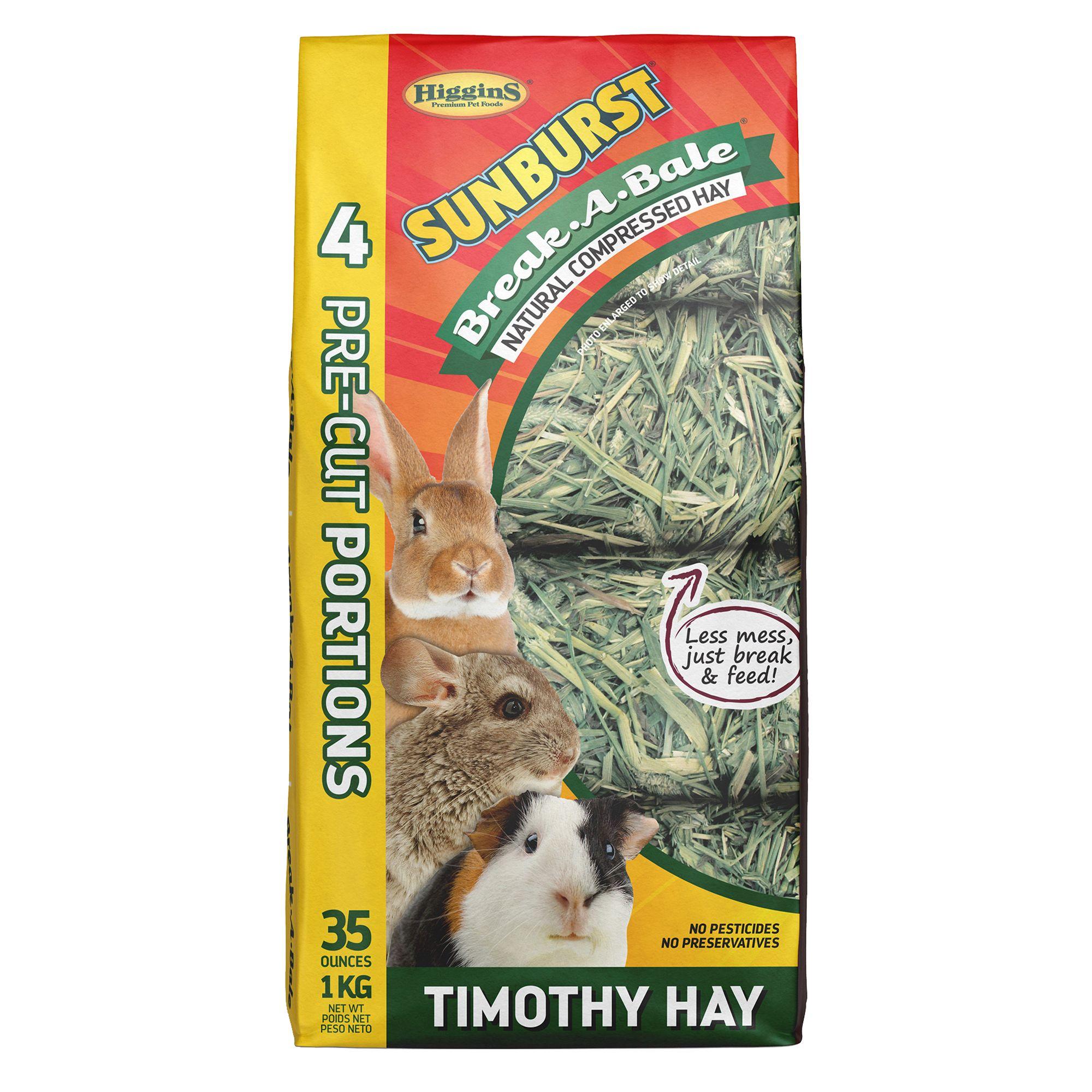 Higgins Sunburst Break A Bale Timothy Hay Size 35 Oz