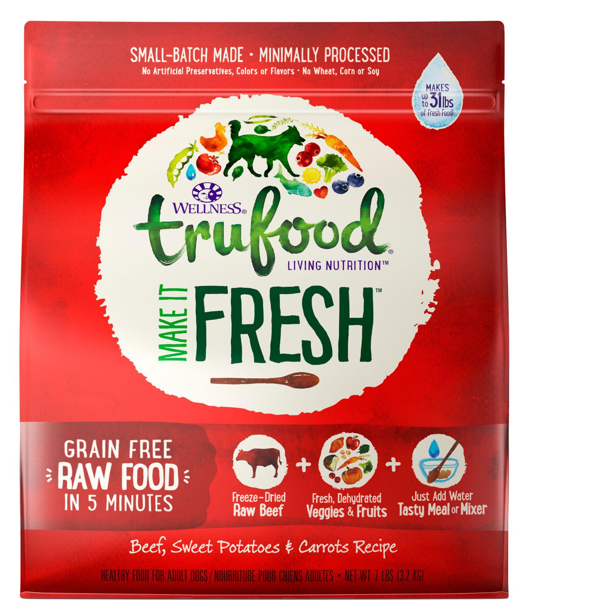 Wellness TruFood Make It Fresh Adult Dog Food - Grain Free, Raw, Beef size: 7 Lb 5258466