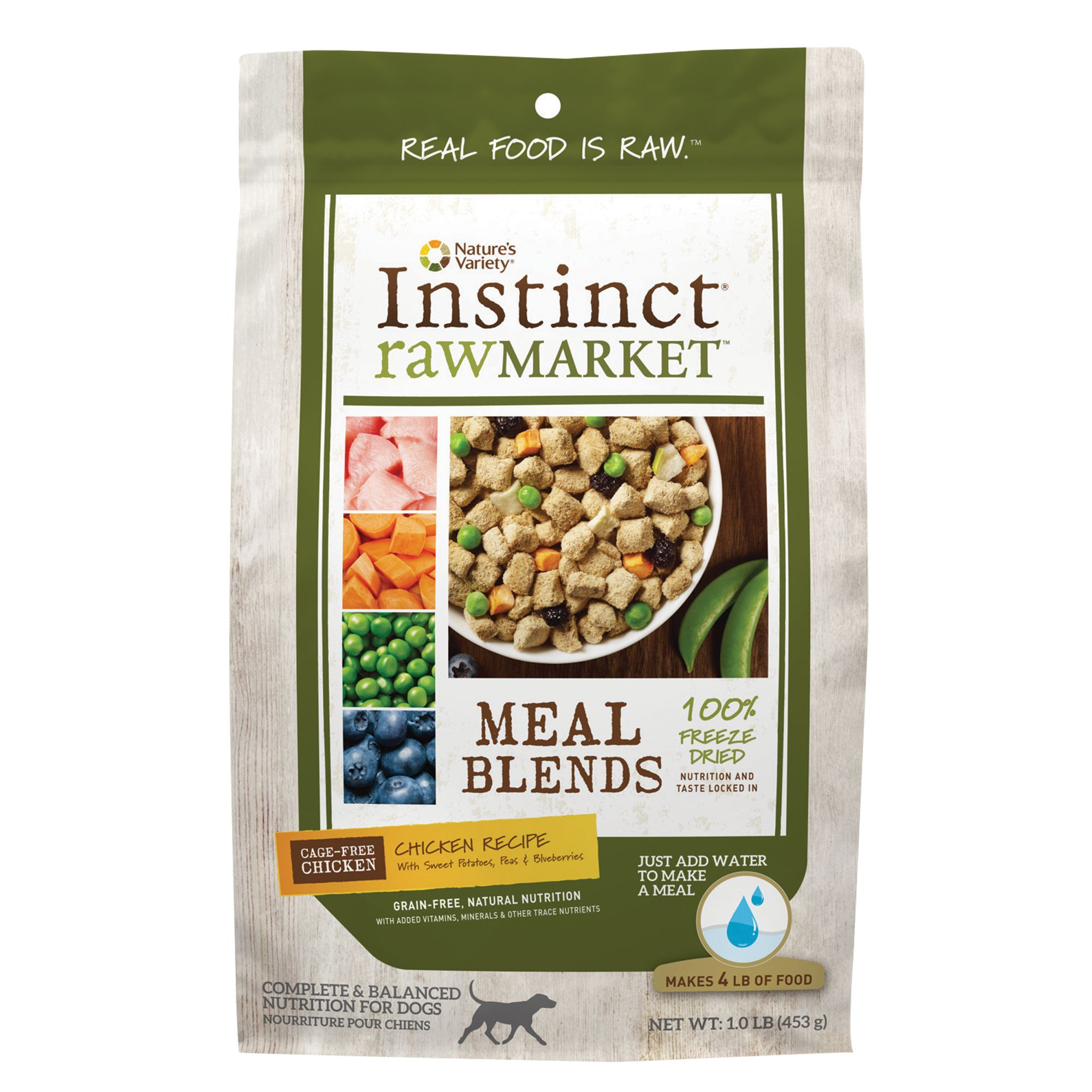 Nature's Variety® Instinct® Raw Market Meal Blends Dog Food - Grain Free, Freeze Dried, Chicken size: 16 Oz 5258785