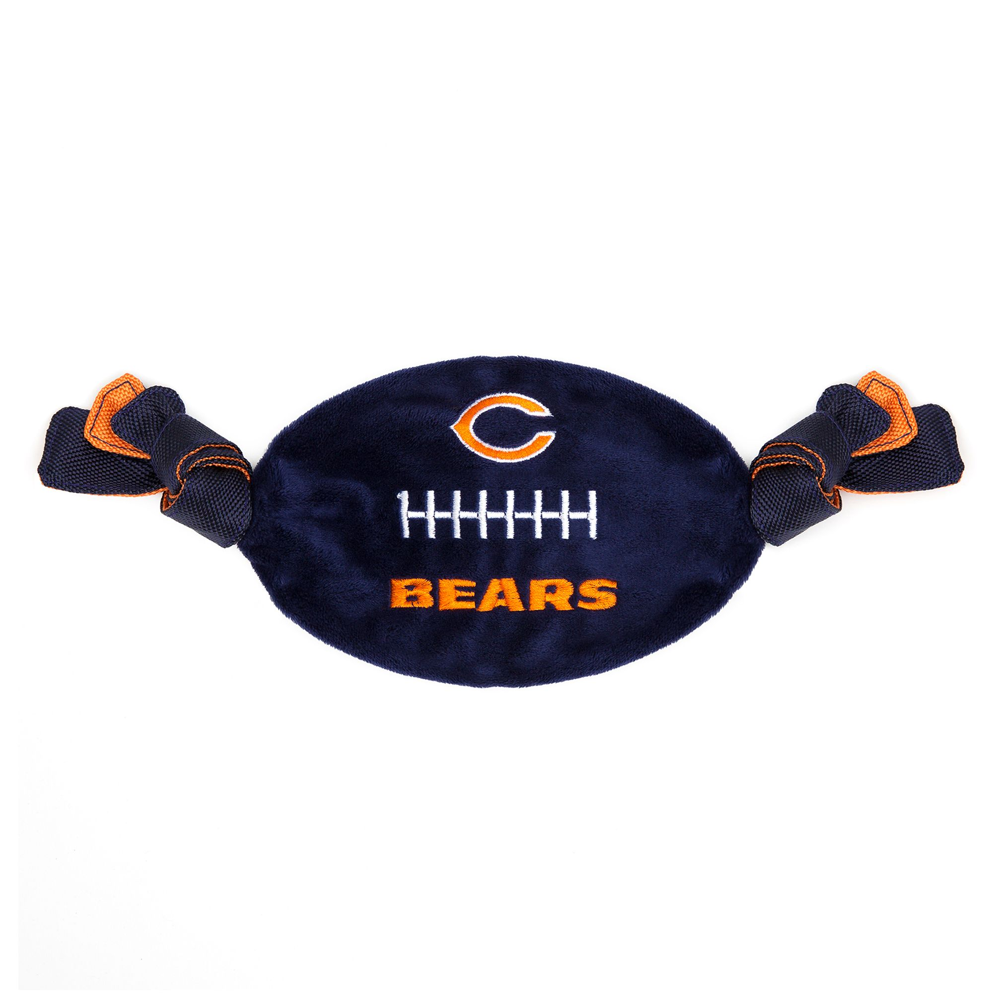 Chicago Bears NFL Flattie Crinkle Football Toy, Pets First 5259663