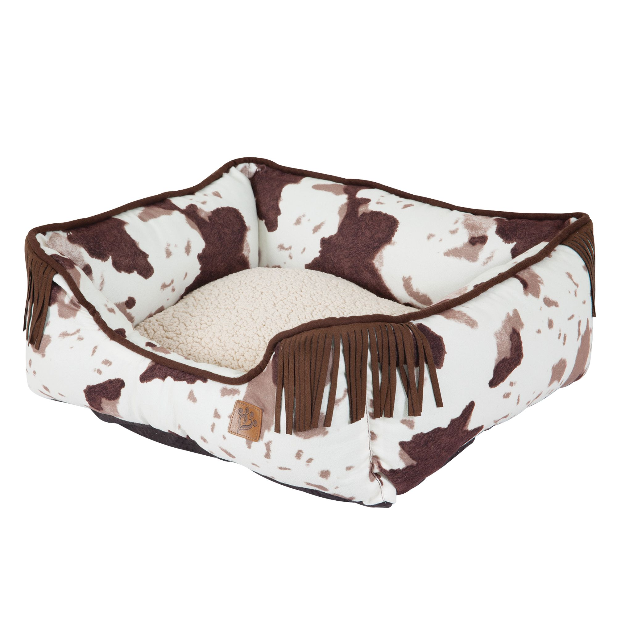 Muttnation Cowhide Lounger Dog Bed Size 20l X 17w X 7h Mutt Nation
