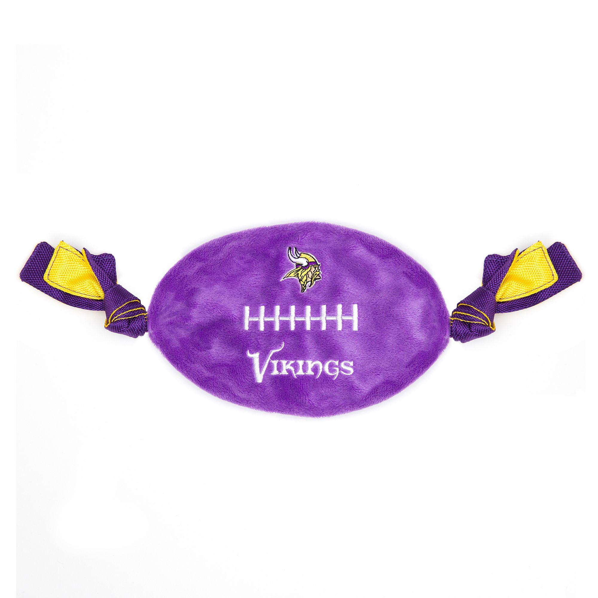 Minnesota Vikings NFL Flattie Crinkle Football Toy, Pets First 5259730