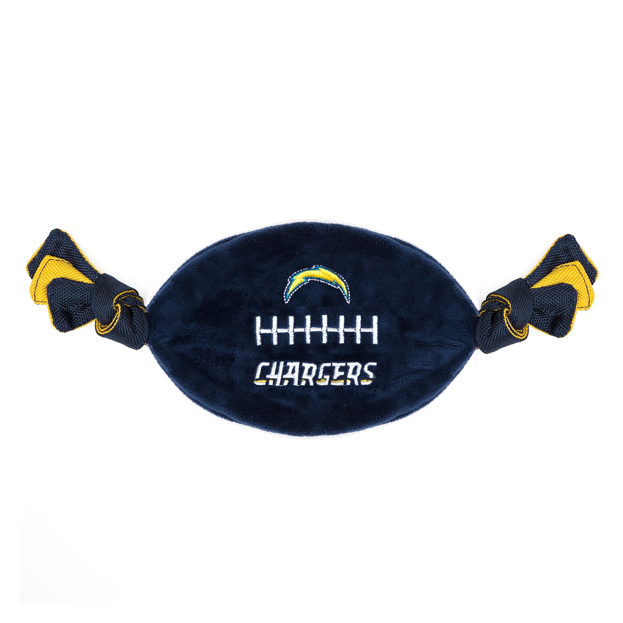 San Diego Chargers NFL Flattie Crinkle Football Toy, Pets First 5259768