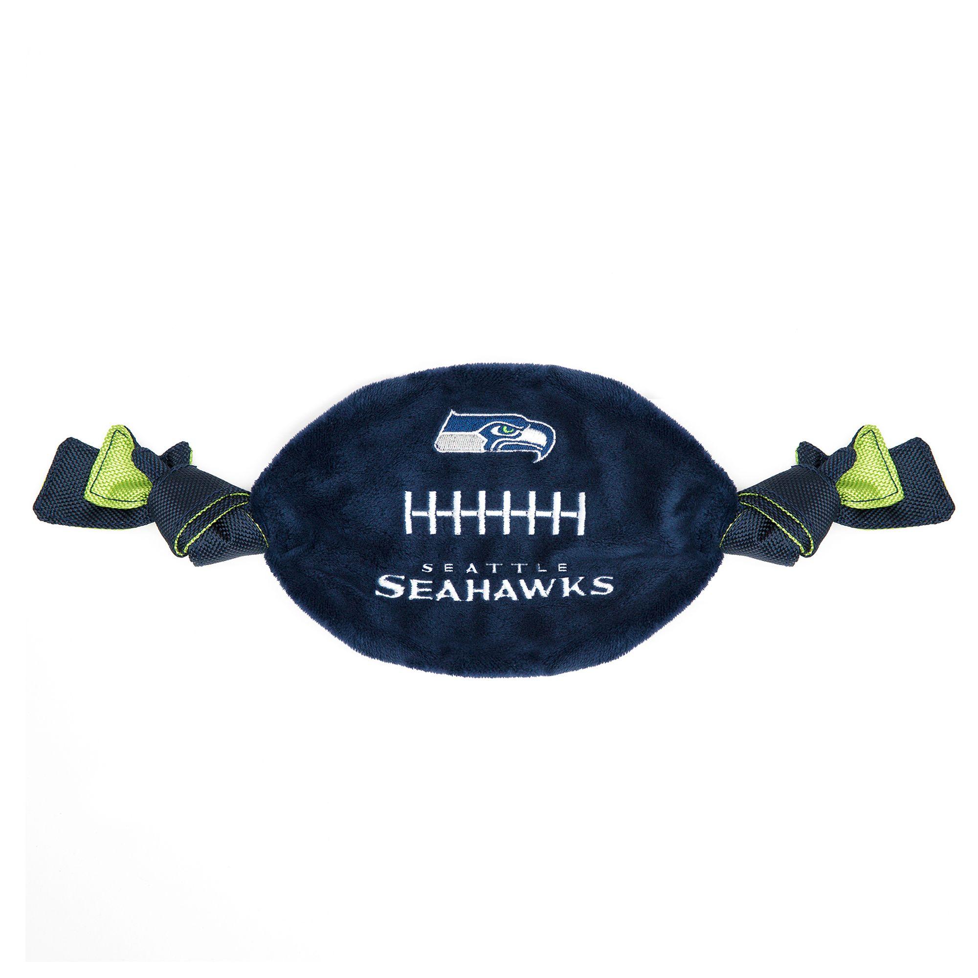 Seattle Seahawks NFL Flattie Crinkle Football Toy, Pets First 5259769