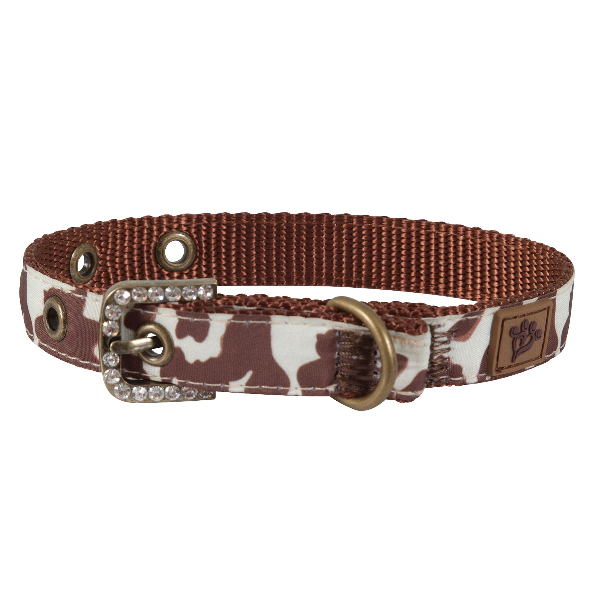 Muttnation Cowhide Print Dog Collar Size Small Mutt Nation