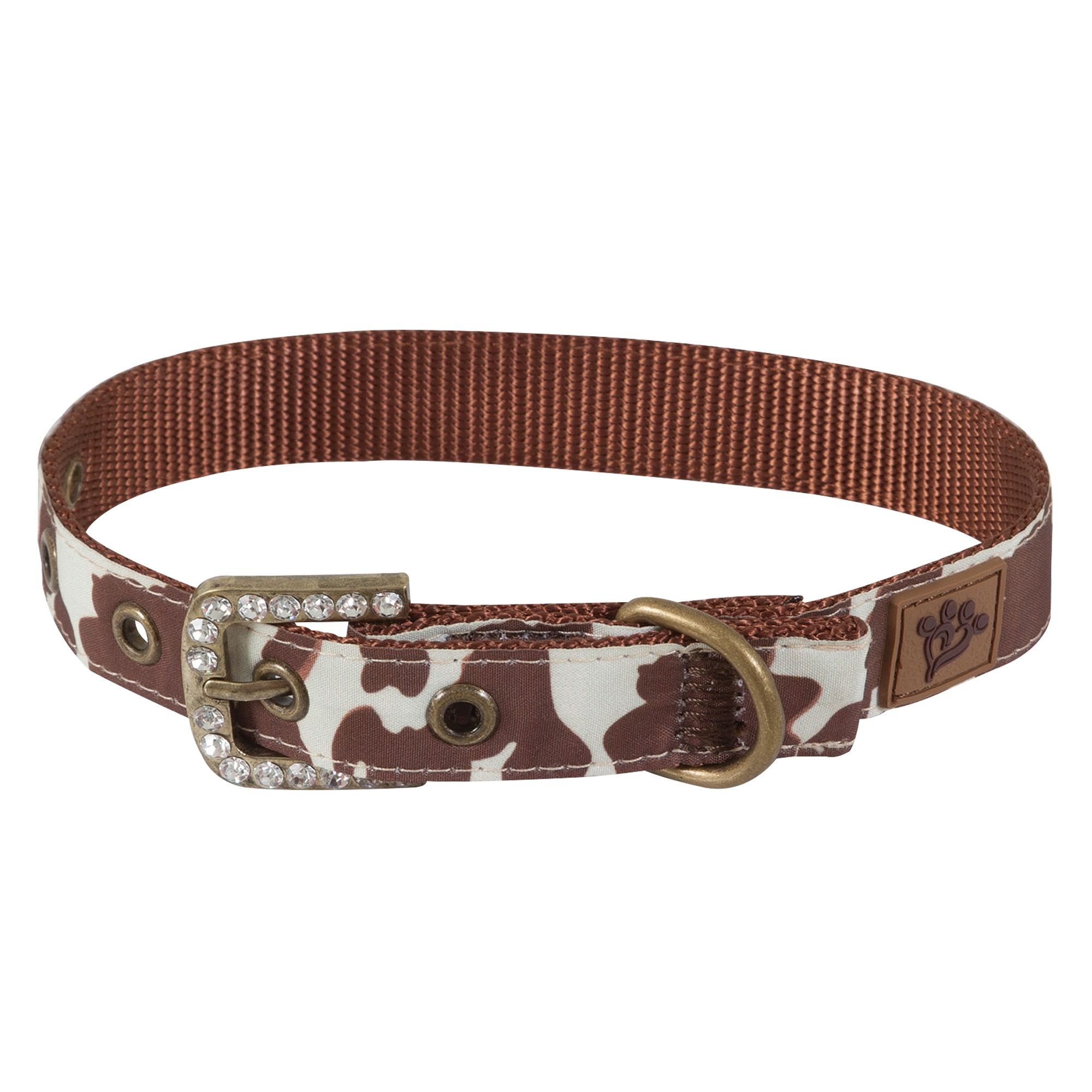 Muttnation Cowhide Print Dog Collar Size Medium Mutt Nation