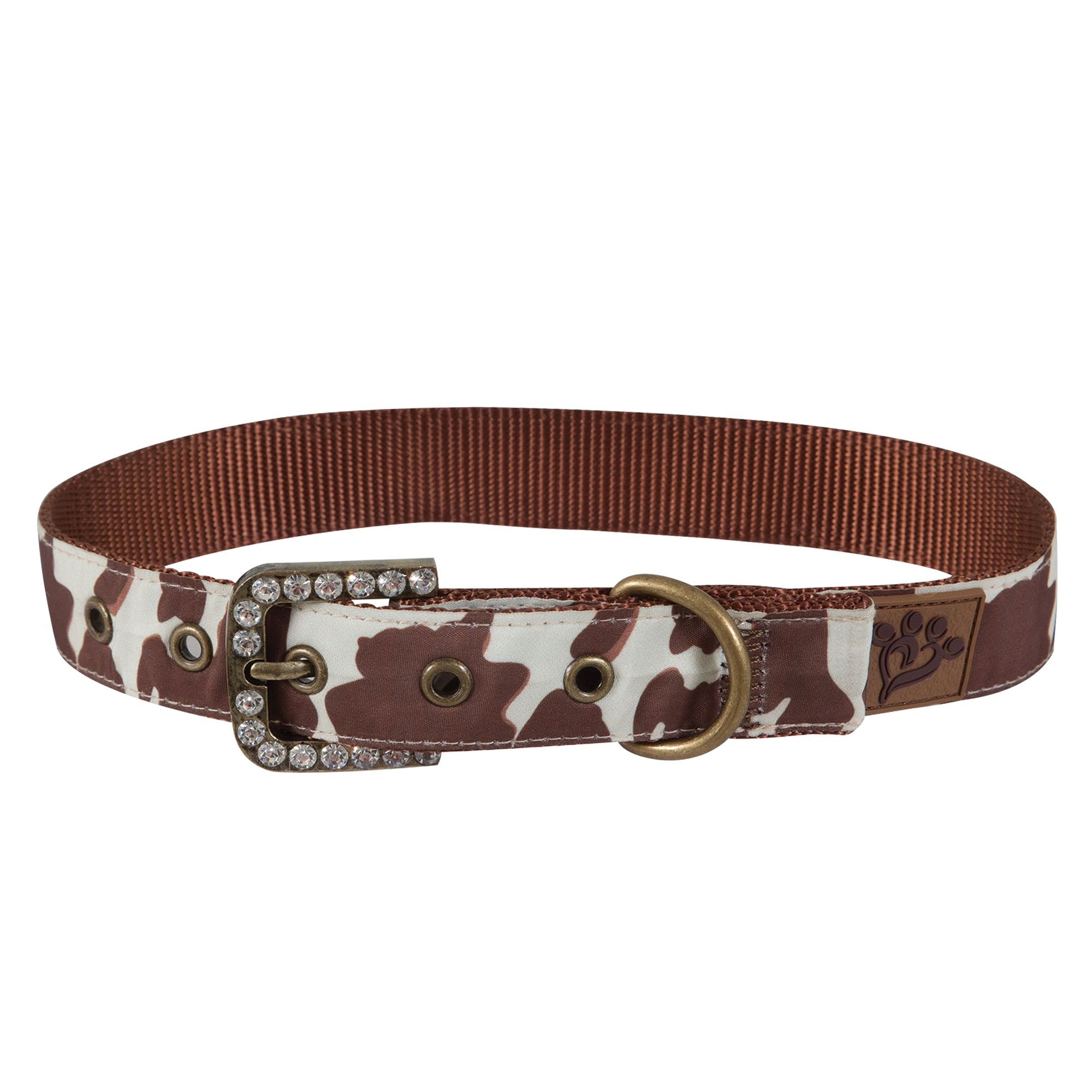 Muttnation Cowhide Print Dog Collar Size Large Mutt Nation