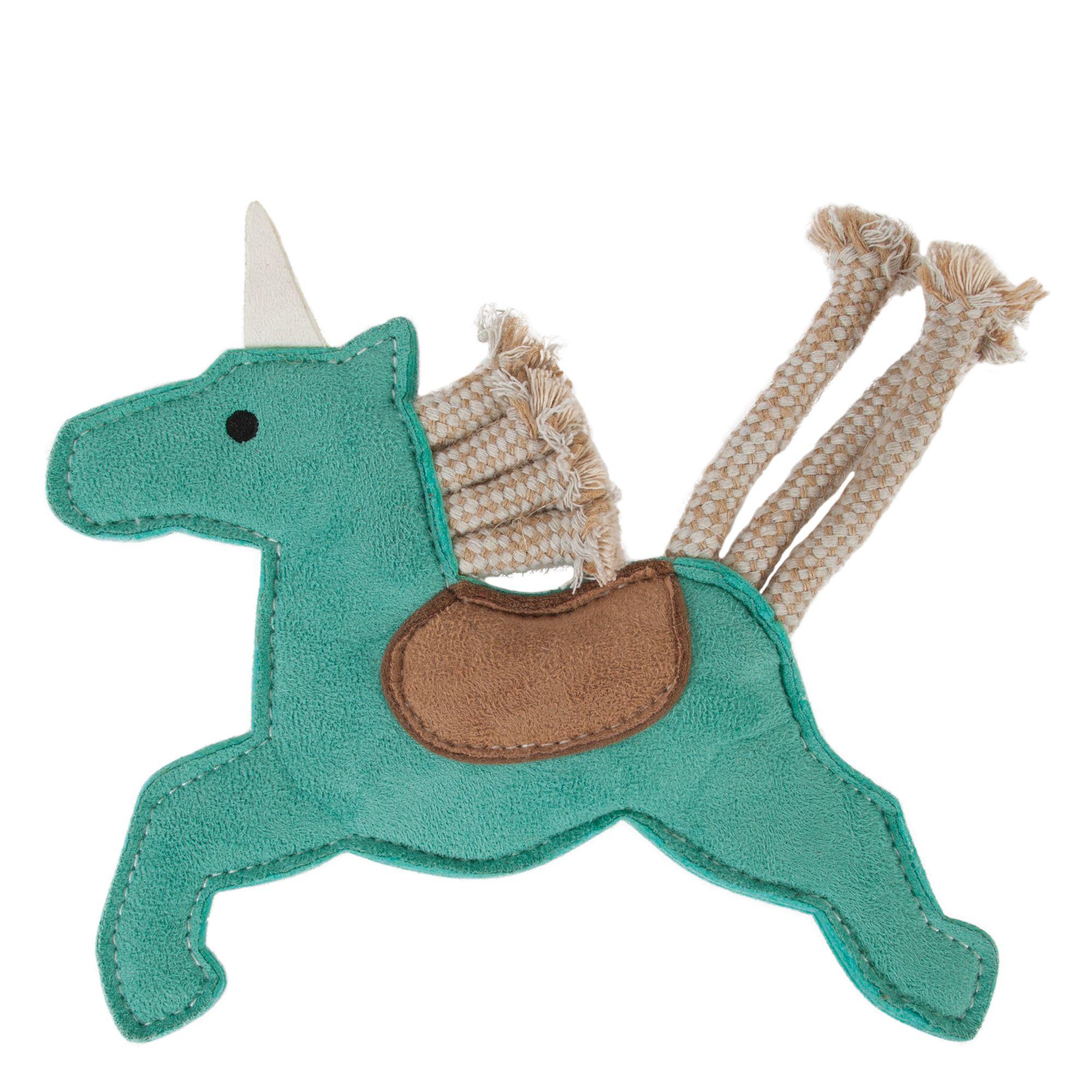 Muttnation Faux Suede Unicorn Dog Toy Mutt Nation