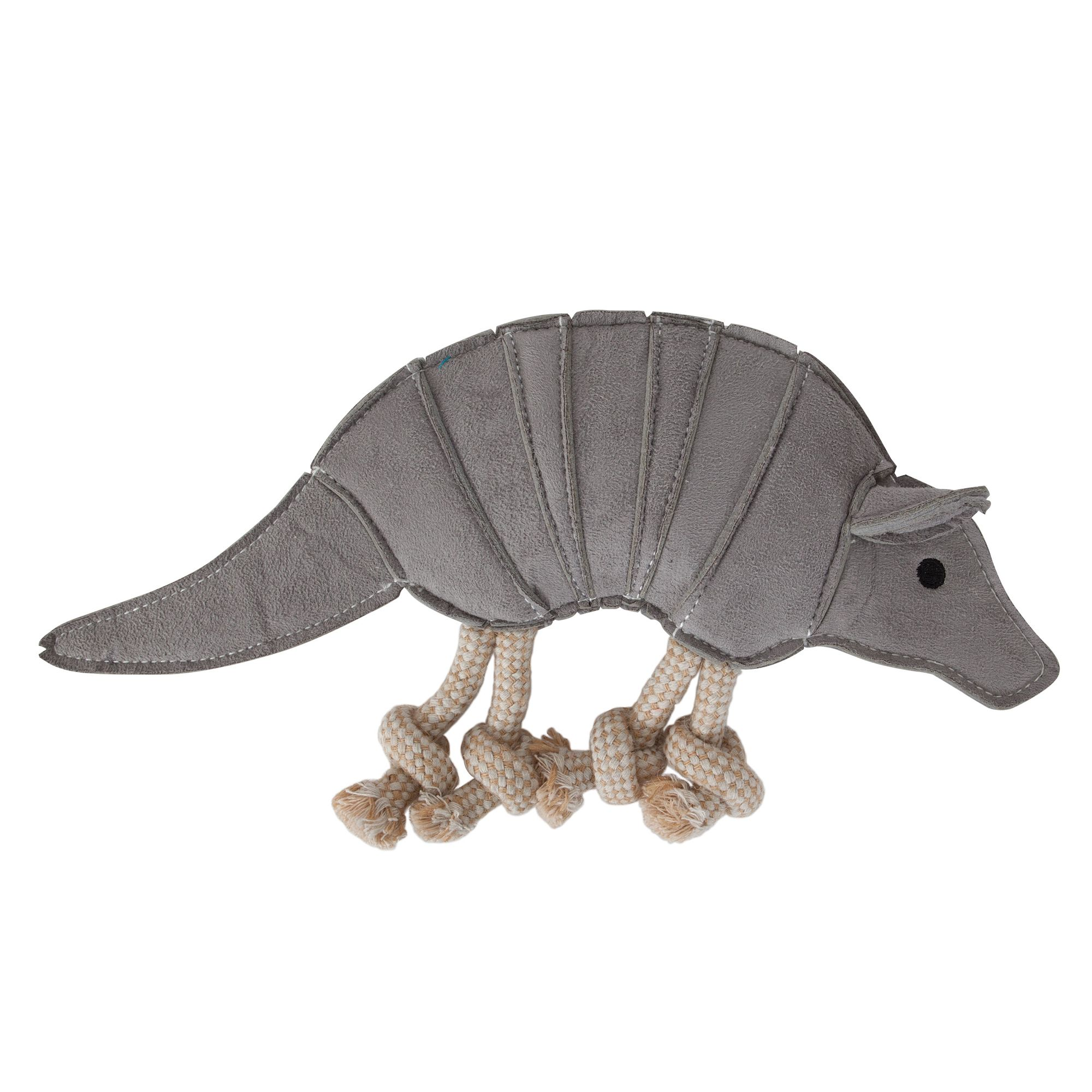 Muttnation Faux Suede Armadillo Dog Toy Mutt Nation