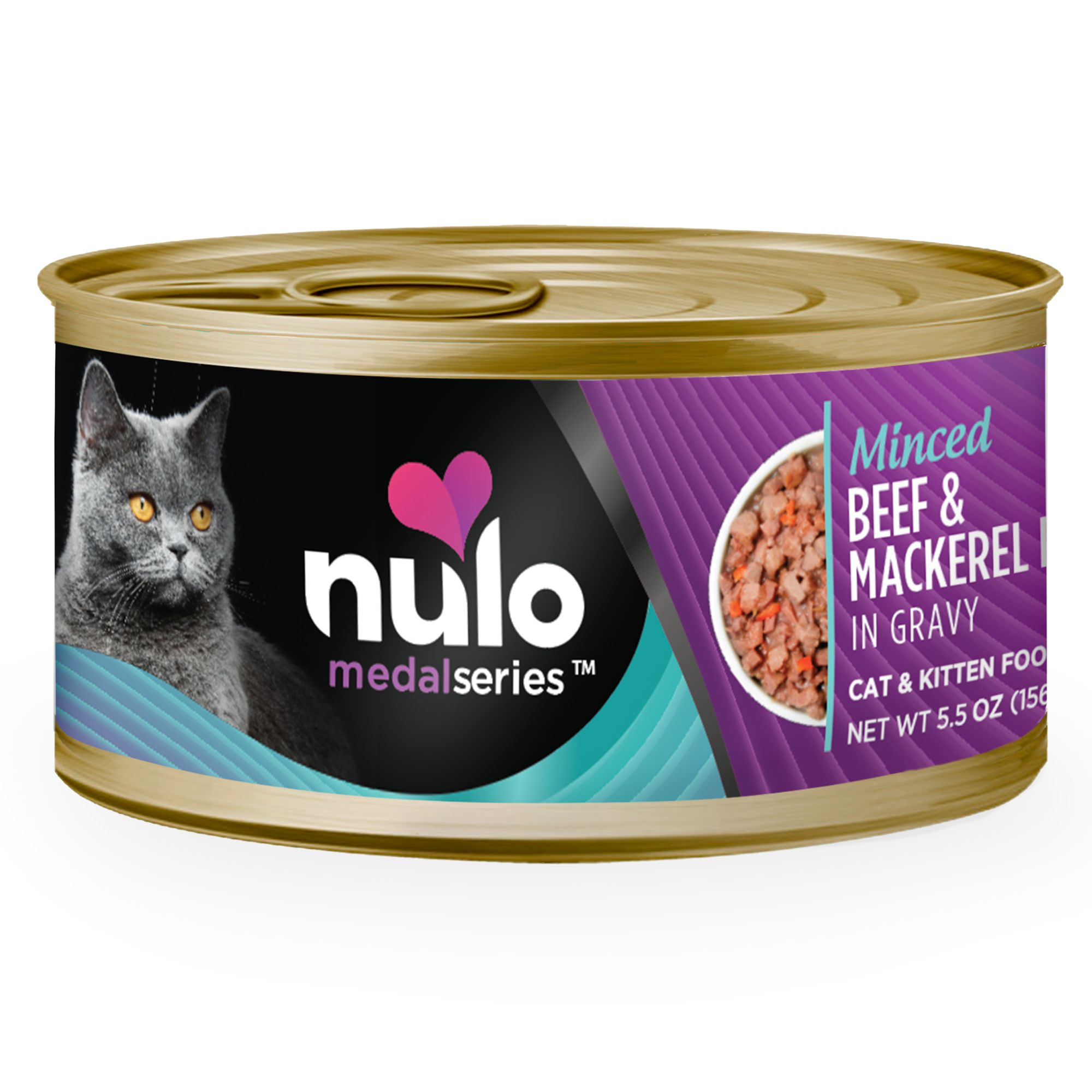 Nulo Medalseries Cat And Kitten Food Grain Free Beef And Mackerel Size 3 Oz