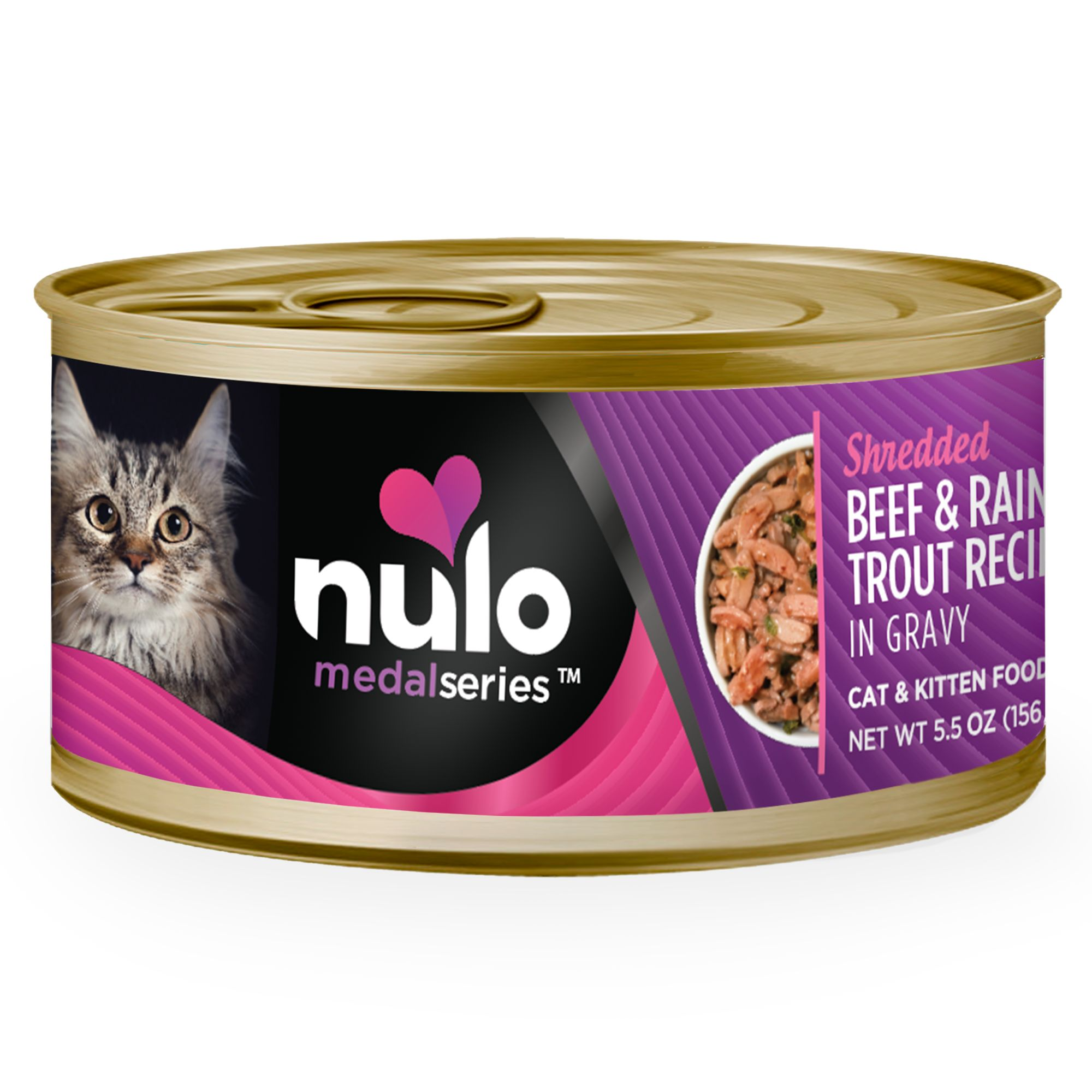 Nulo Medalseries Cat And Kitten Food Grain Free Beef And Rainbow Trout Size 3 Oz