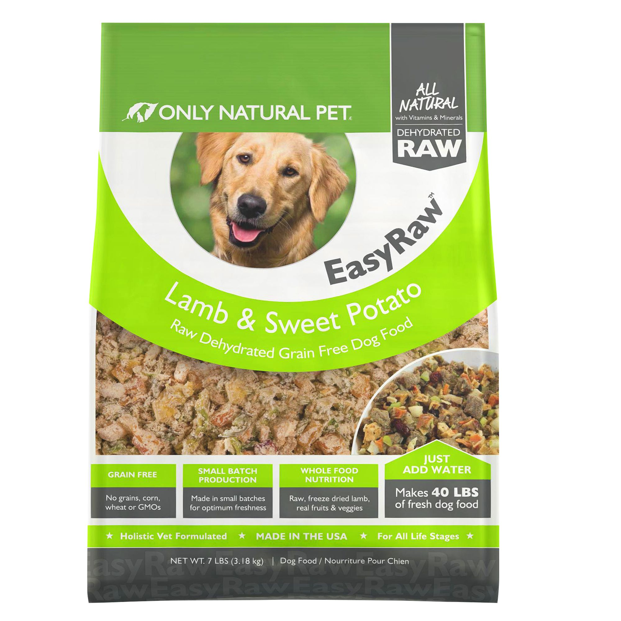 Only Natural Pet Dehydrated Raw Dog Food