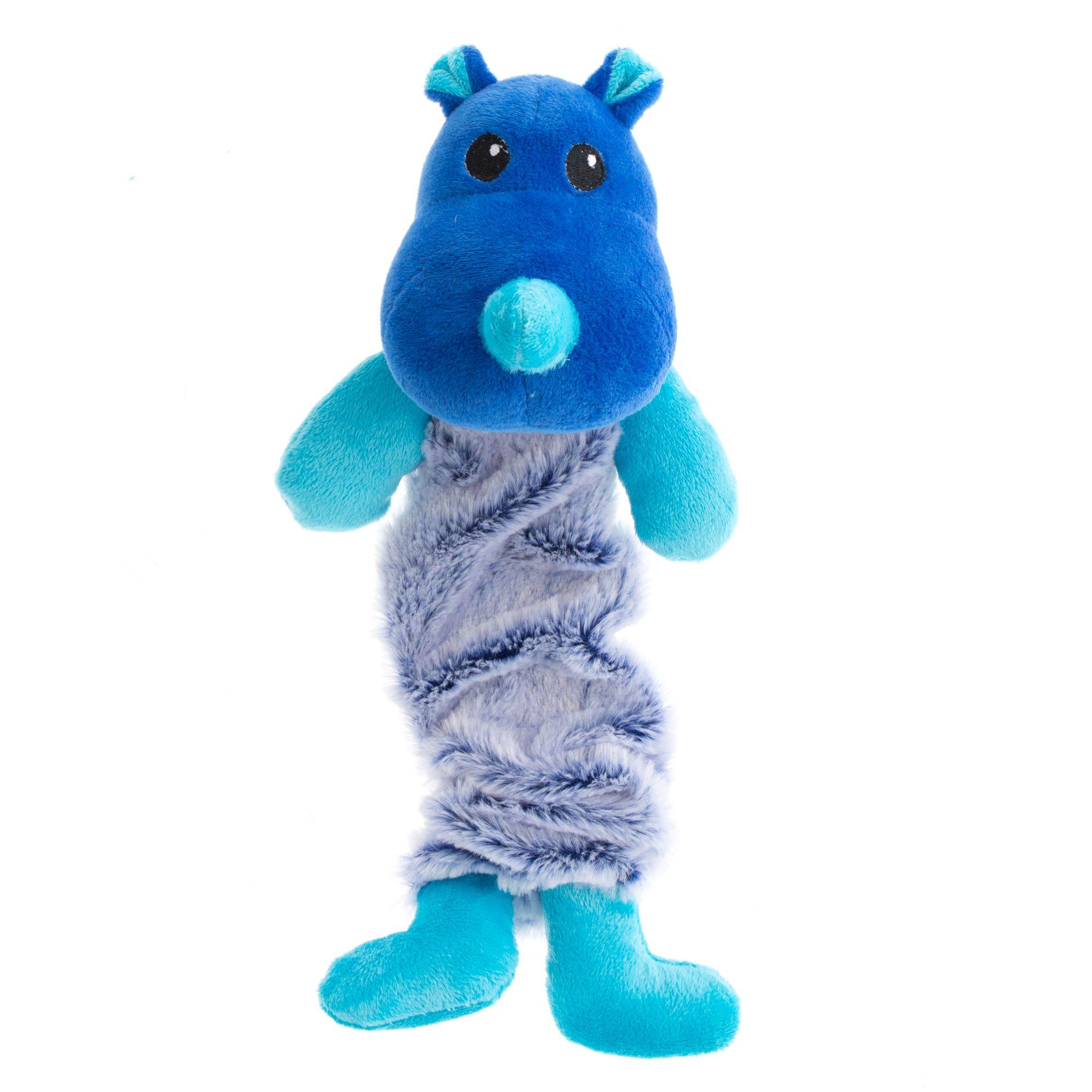 Grreat Choice Bungee Rhino Plush Dog Toy