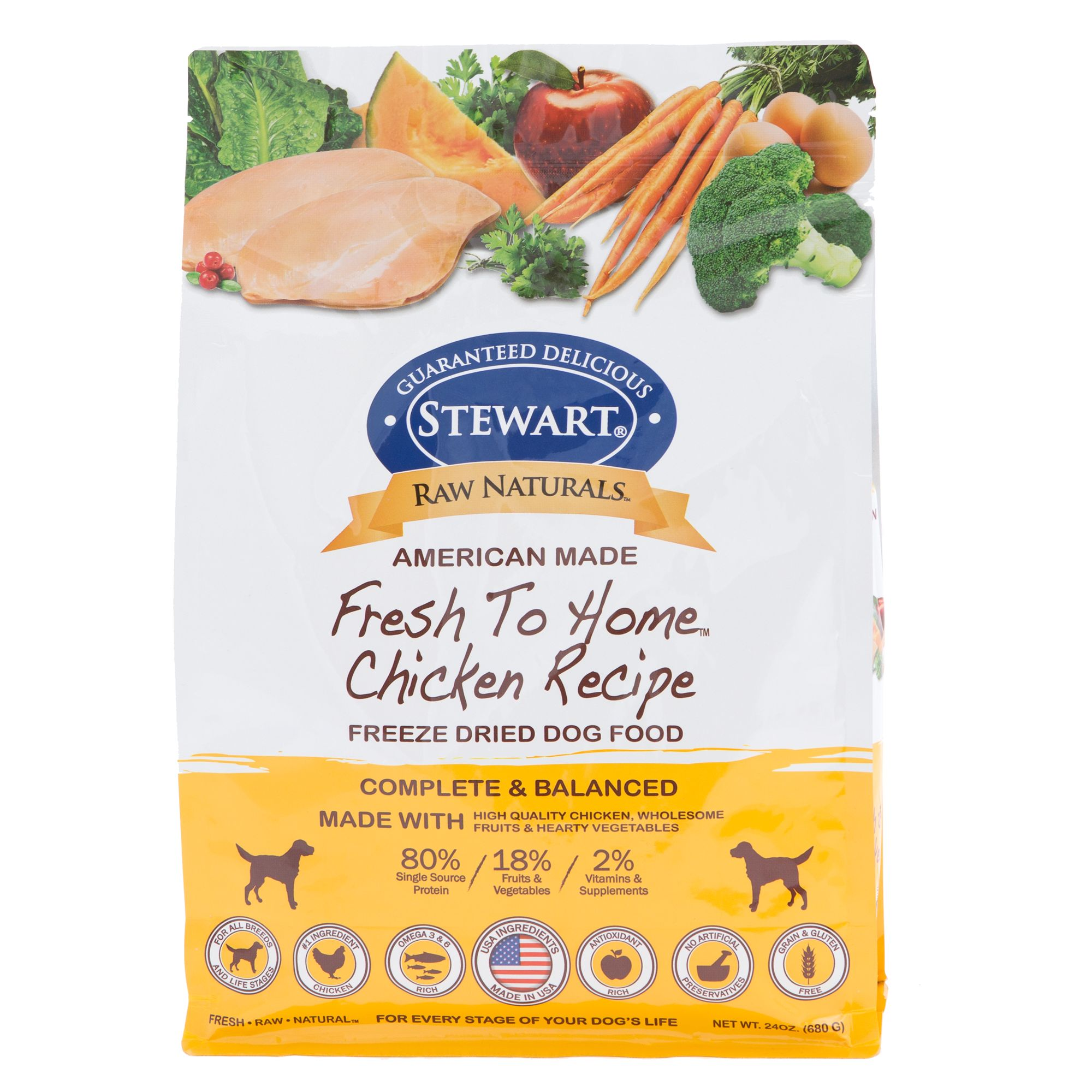 Stewart Raw Naturals Dog Food Freeze Dried Chicken Size 24 Oz