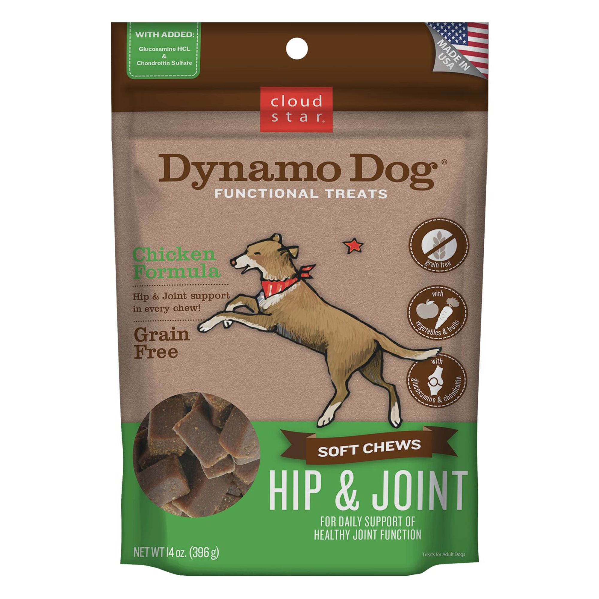 Cloud Star Dynamo Dog Hip And Joint Dog Chew Grain Free Chicken Size 14 Oz